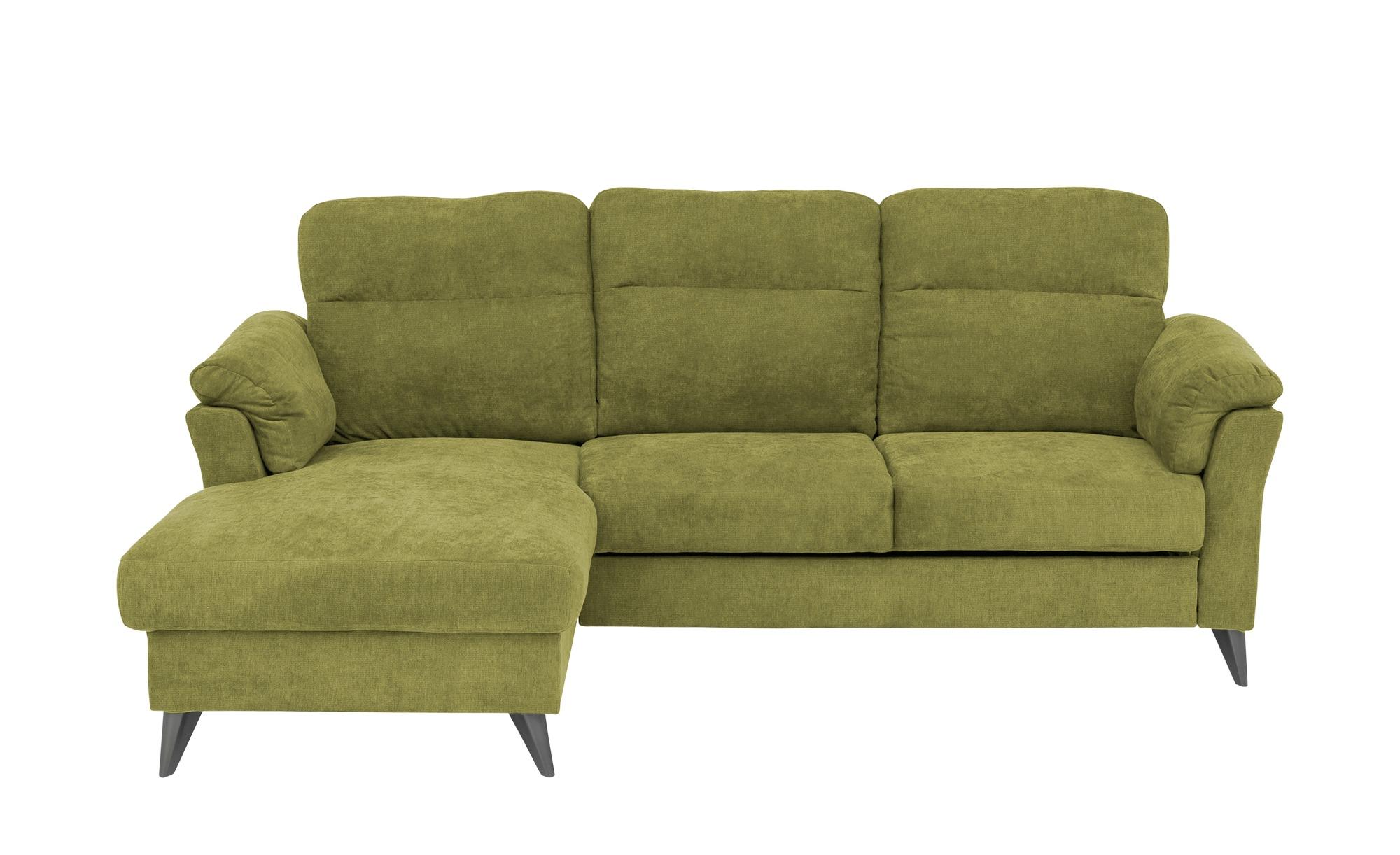 Ecksofa  Paola ¦ grün ¦ Maße (cm): H: 80 Polstermöbel > Sofas > Ecksofas - Höffner