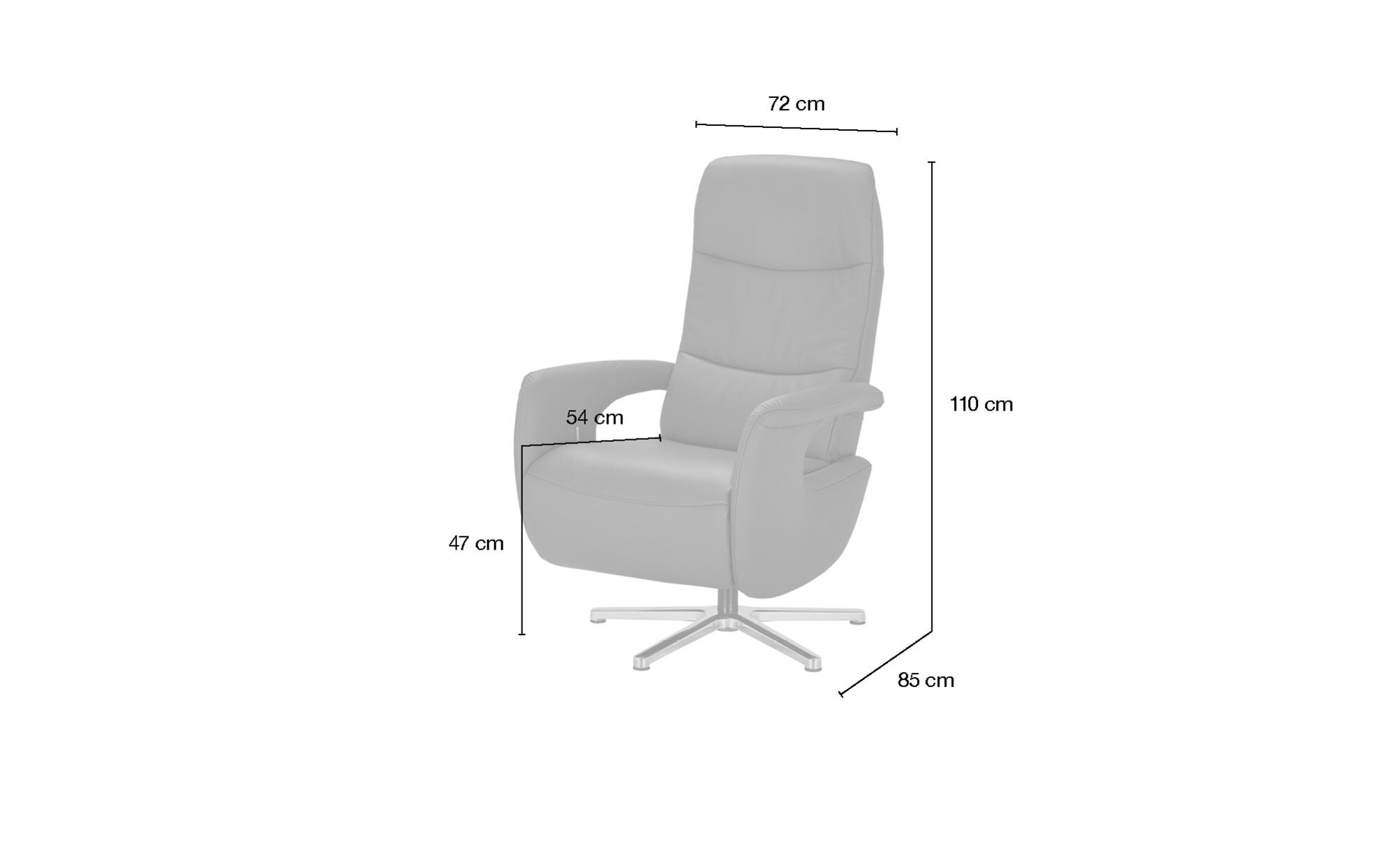 Hukla Relaxsessel  Enno ¦ rot ¦ Maße (cm): B: 72 H: 110 T: 85 Polstermöbel > Sessel > Fernsehsessel - Höffner