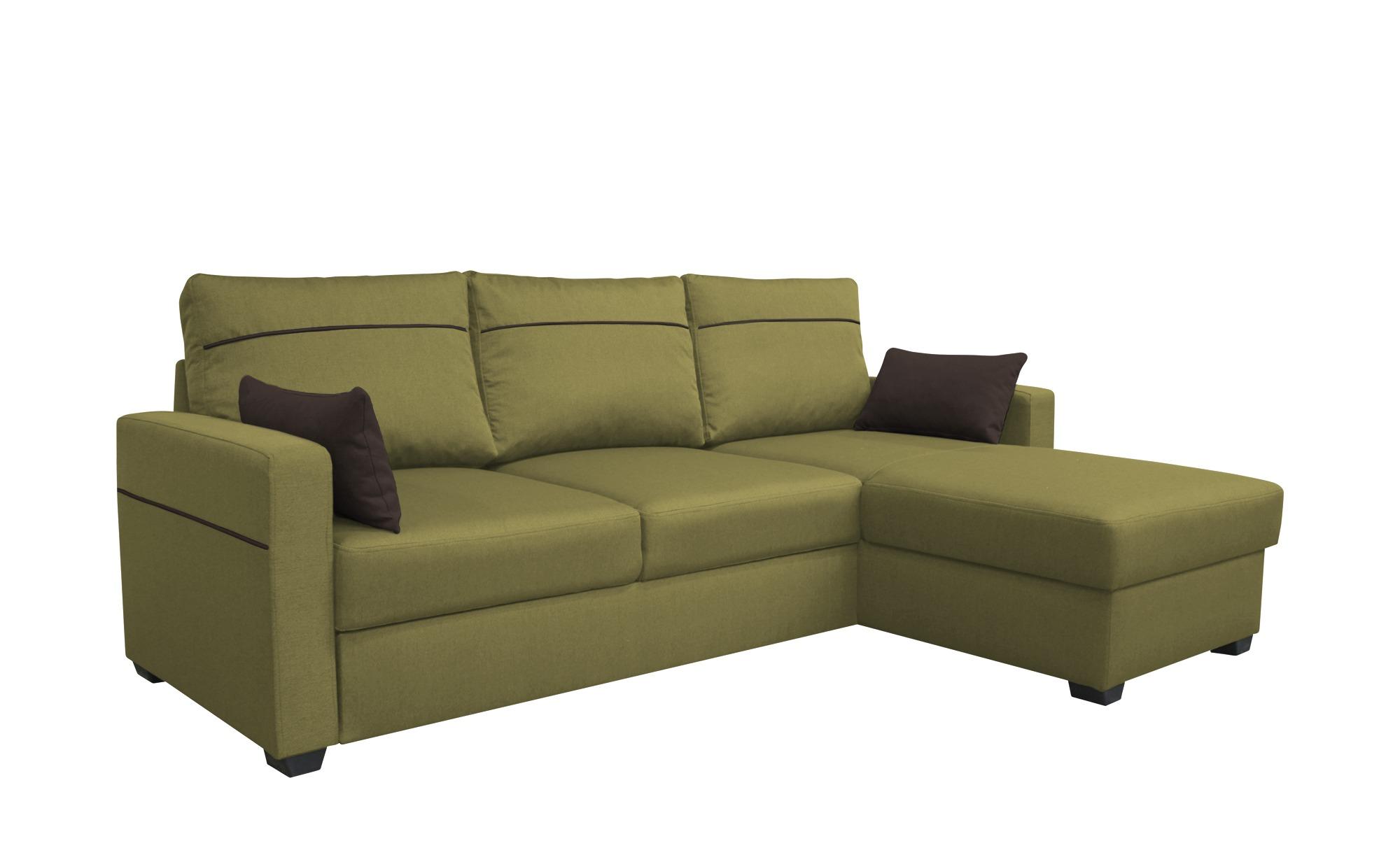 Ecksofa  Simbia ¦ grün ¦ Maße (cm): B: 232 H: 87 T: 158 Polstermöbel > Sofas > Ecksofas - Höffner