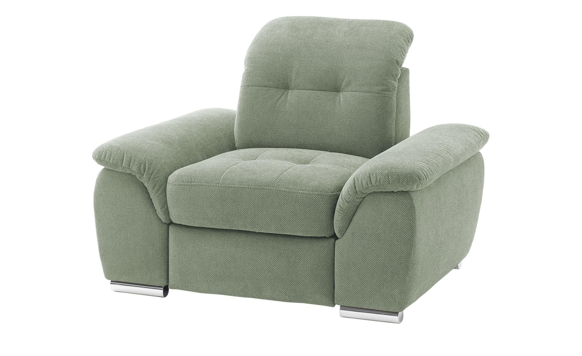 Sessel   Halona ¦ grün ¦ Maße (cm): B: 116 H: 89 T: 109 Polstermöbel > Sessel > Polstersessel - Höffner