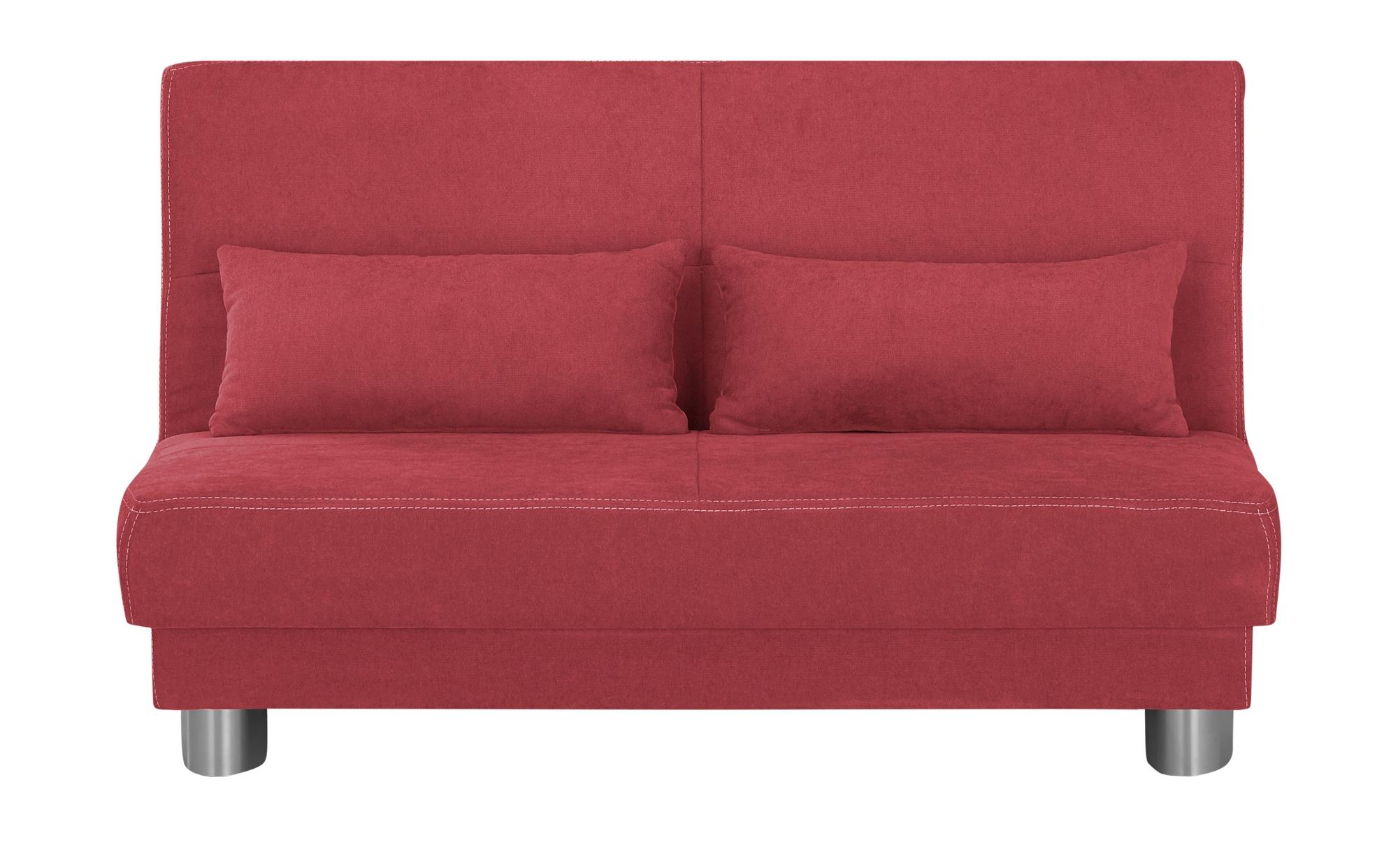 Schlafsofa  Gina ¦ rot ¦ Maße (cm): B: 140 H: 86 T: 95 Polstermöbel > Sofas > Einzelsofas - Höffner