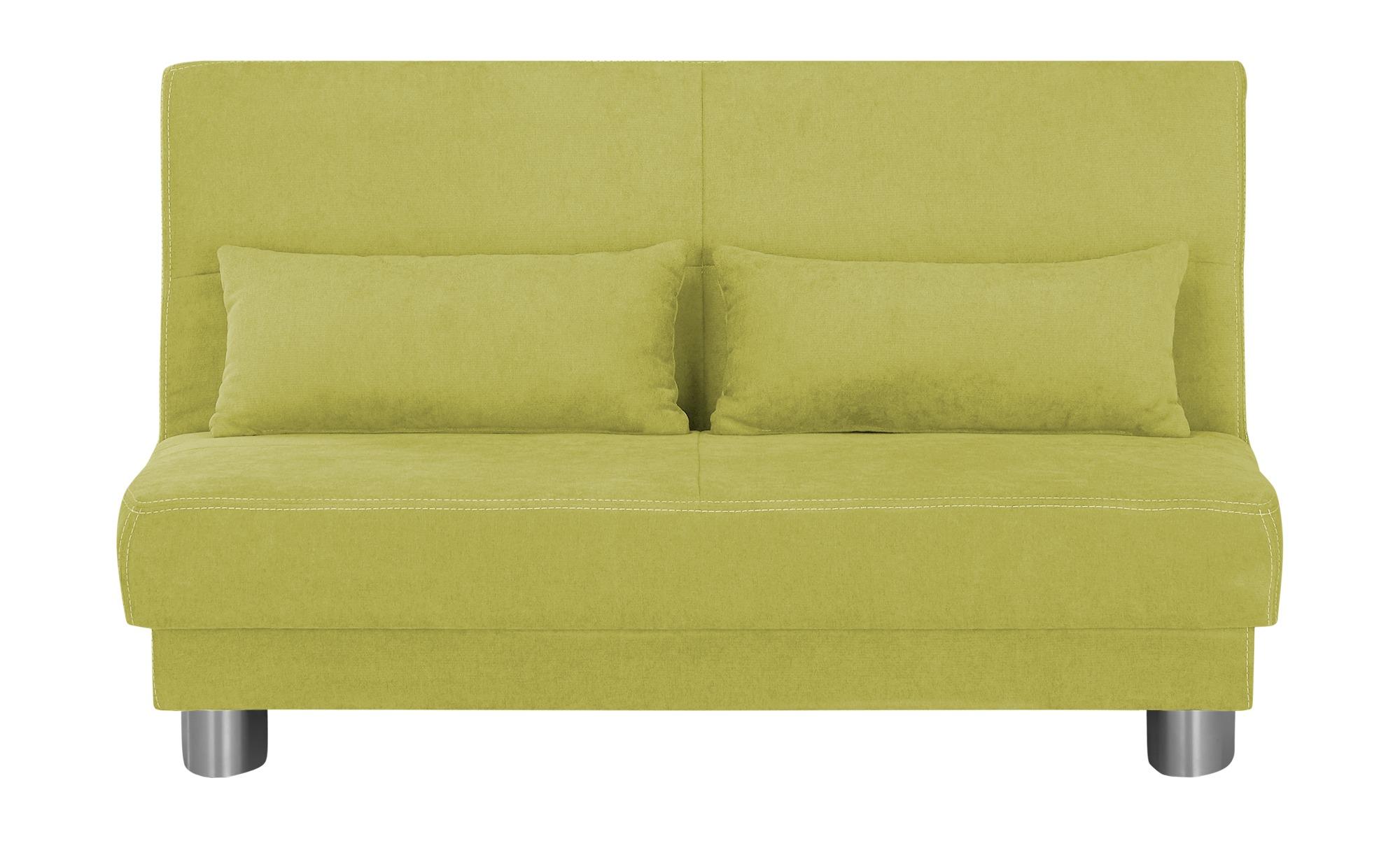 Schlafsofa  Gina ¦ grün ¦ Maße (cm): B: 140 H: 86 T: 95 Polstermöbel > Sofas > Einzelsofas - Höffner