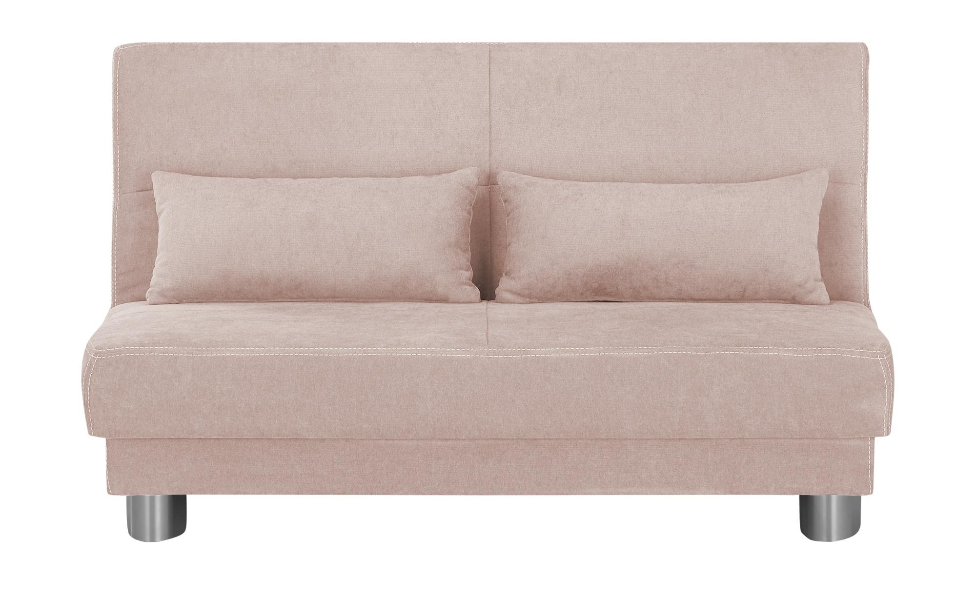 Schlafsofa  Gina ¦ rosa/pink ¦ Maße (cm): B: 140 H: 86 T: 95 Polstermöbel > Sofas > Einzelsofas - Höffner
