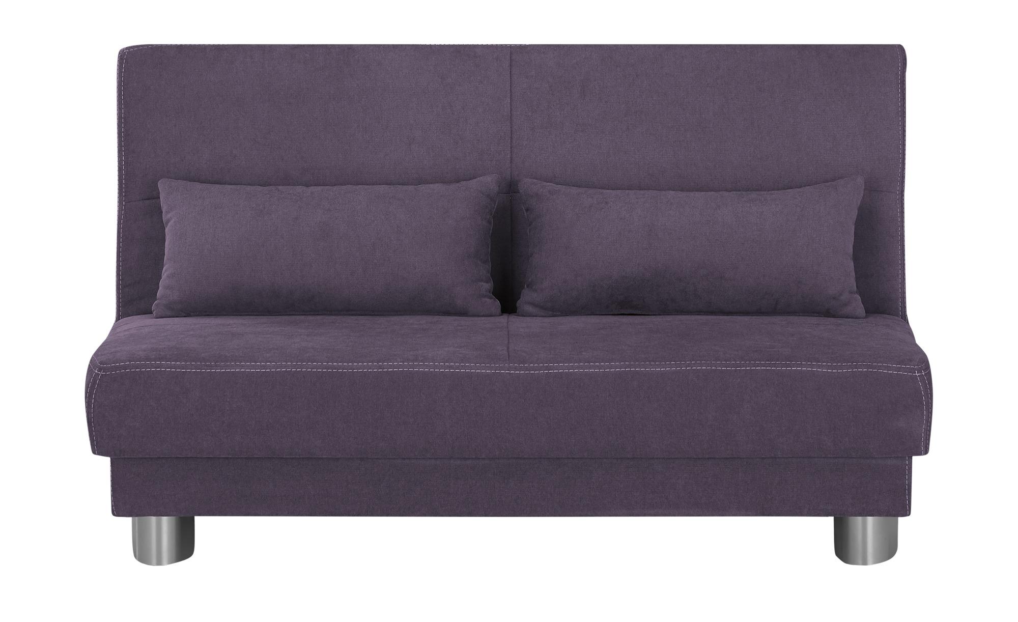 Schlafsofa  Gina ¦ lila/violett ¦ Maße (cm): B: 120 H: 86 T: 95 Polstermöbel > Sofas > Einzelsofas - Höffner