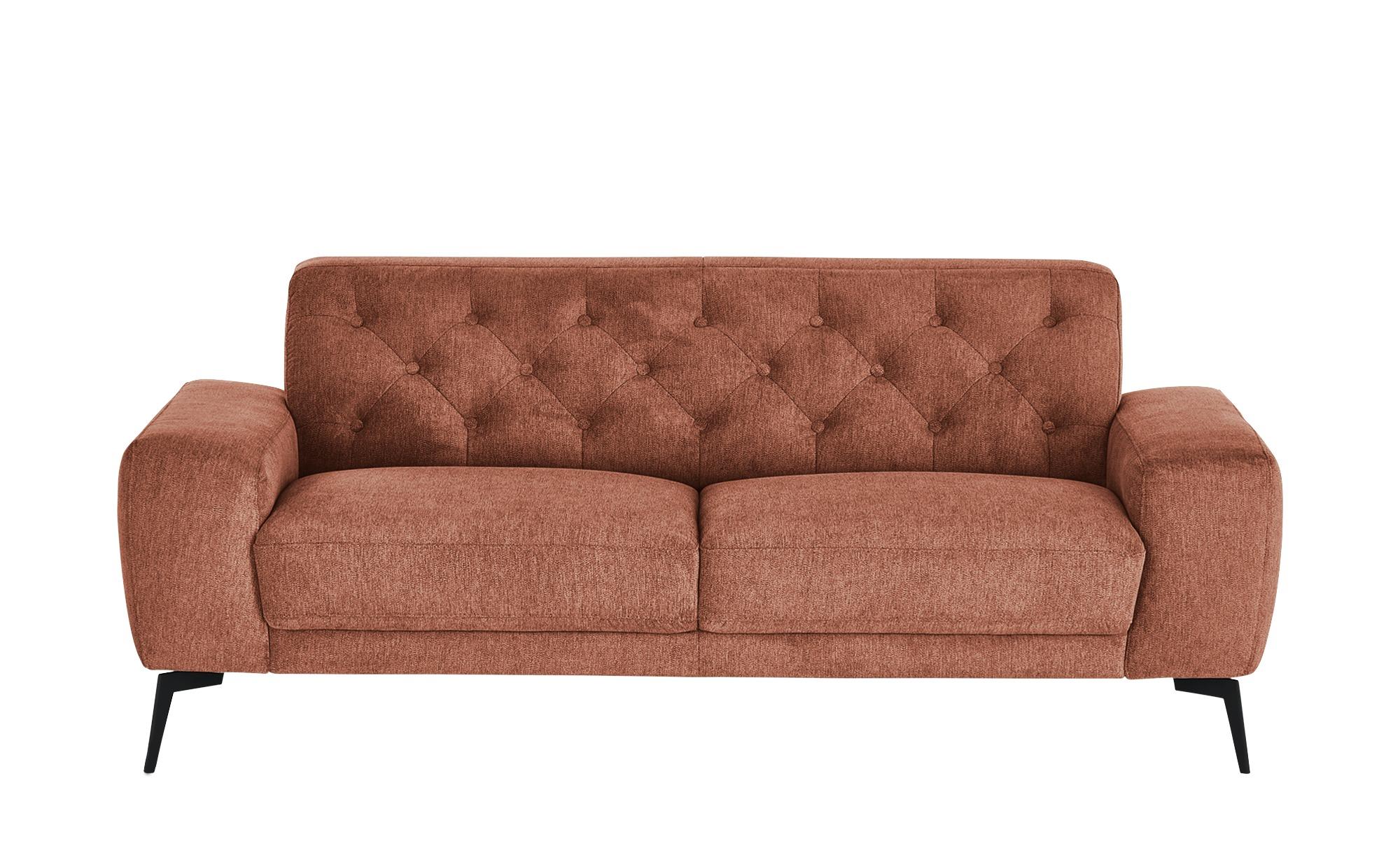 smart Sofa  Alana ¦ orange ¦ Maße (cm): B: 196 H: 77 T: 95 Polstermöbel > Sofas > Einzelsofas - Höffner