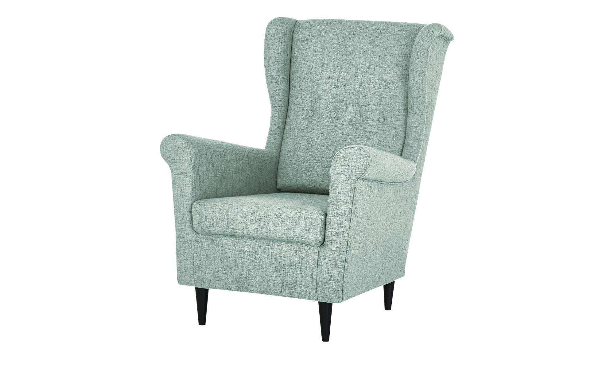 smart Sessel  Hubertine ¦ blau ¦ Maße (cm): B: 82 H: 102 T: 89 Polstermöbel > Sessel > Ohrensessel - Höffner