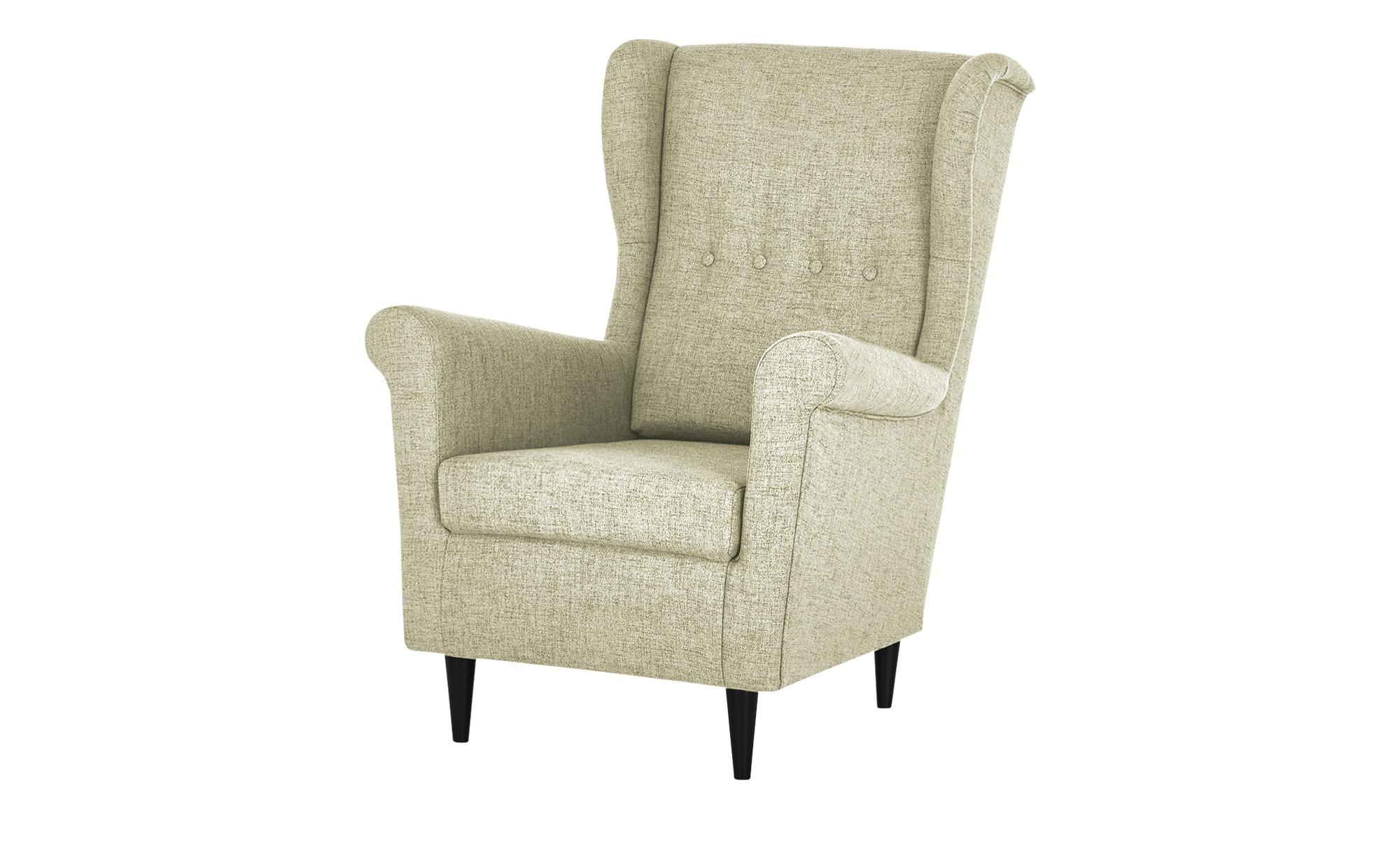 smart Sessel  Hubertine ¦ creme ¦ Maße (cm): B: 82 H: 102 T: 89 Polstermöbel > Sessel > Ohrensessel - Höffner