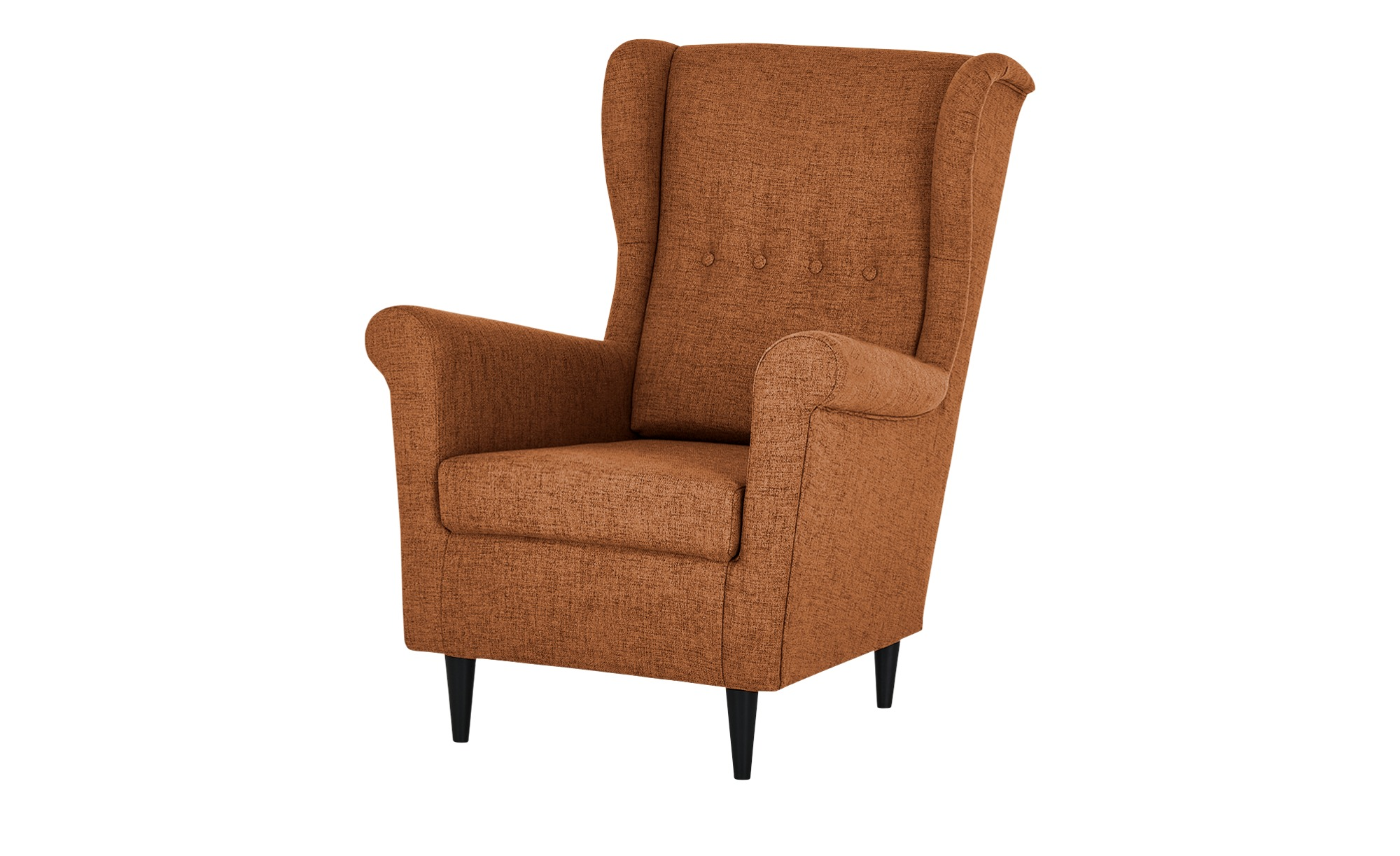 smart Sessel  Hubertine ¦ orange ¦ Maße (cm): B: 82 H: 102 T: 89 Polstermöbel > Sessel > Ohrensessel - Höffner