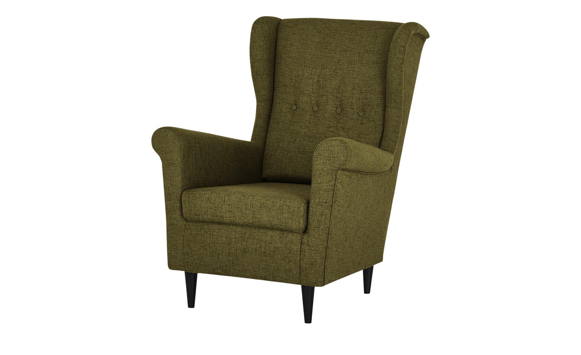 smart Sessel  Hubertine ¦ grün ¦ Maße (cm): B: 82 H: 102 T: 89 Polstermöbel > Sessel > Ohrensessel - Höffner