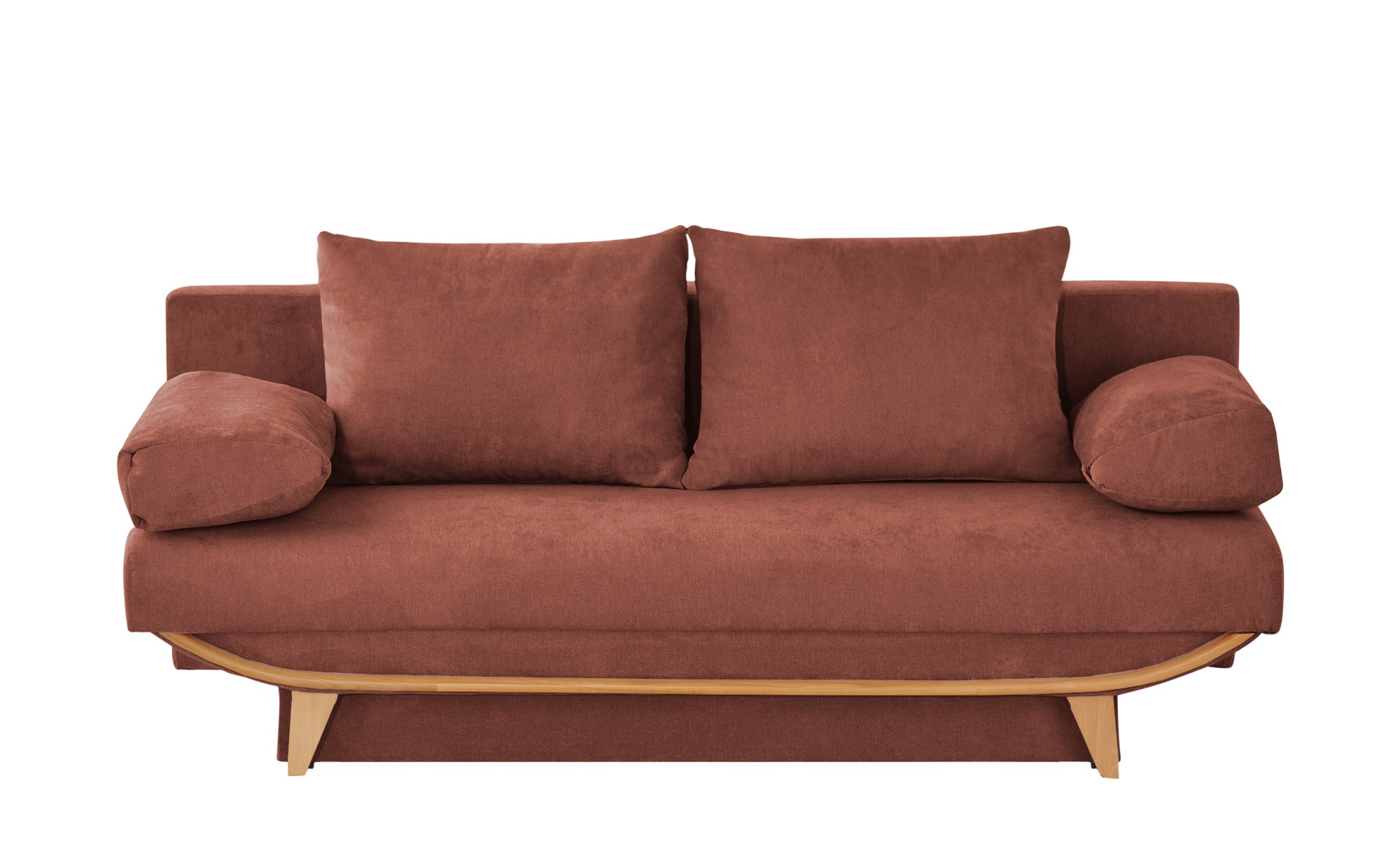 smart Schlafsofa  Odessa ¦ orange ¦ Maße (cm): B: 195 H: 75 T: 95 Polstermöbel > Sofas > 2-Sitzer - Höffner