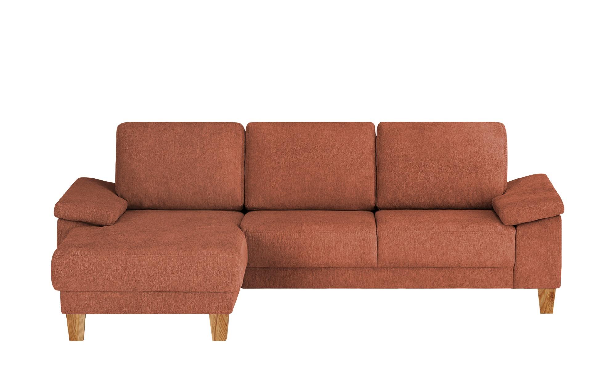 smart Ecksofa  Atara ¦ orange ¦ Maße (cm): H: 80 Polstermöbel > Sofas > Ecksofas - Höffner