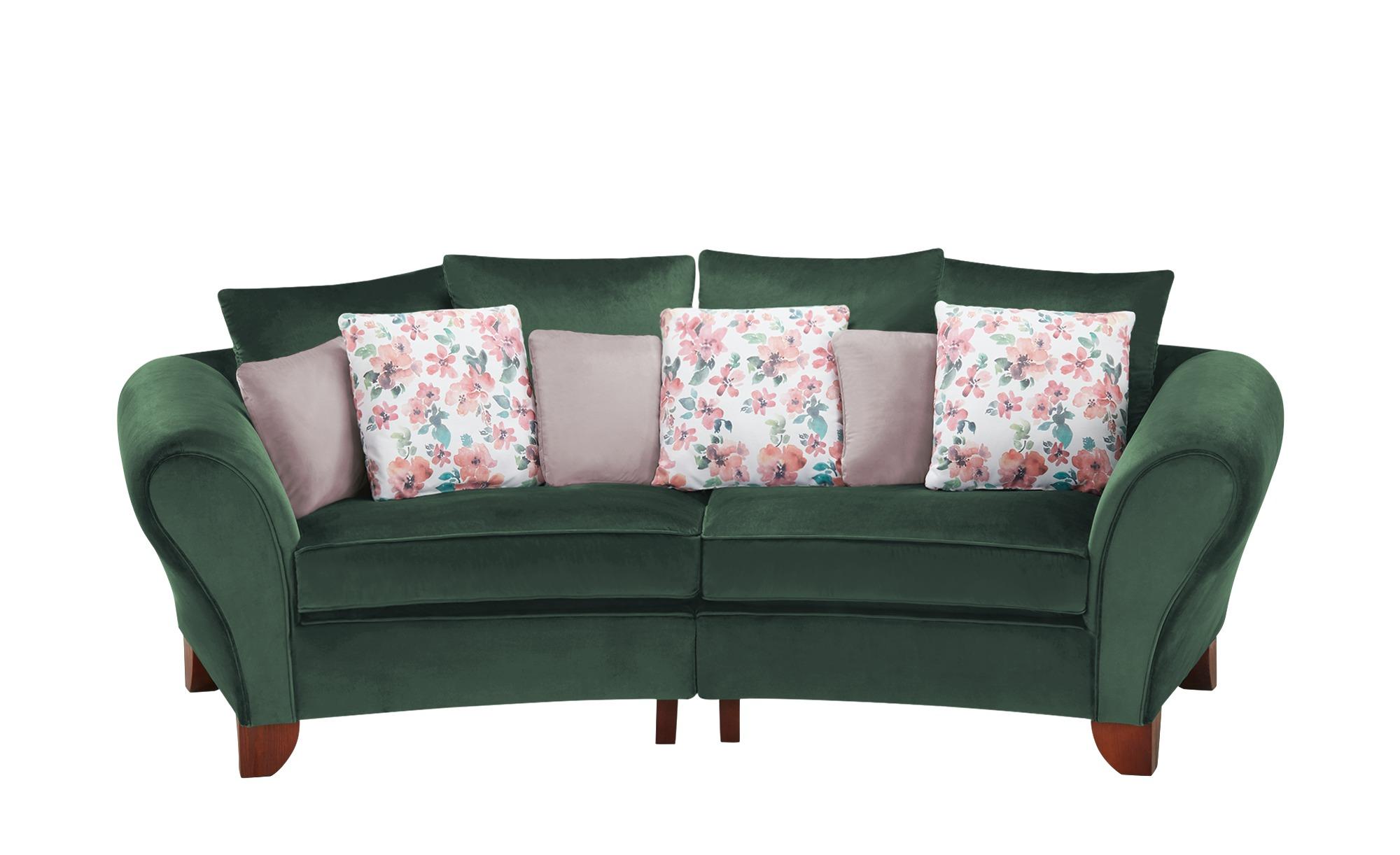 smart Big Sofa  Nadja ¦ grün ¦ Maße (cm): B: 277 H: 95 T: 108 Polstermöbel > Sofas > 3-Sitzer - Höffner