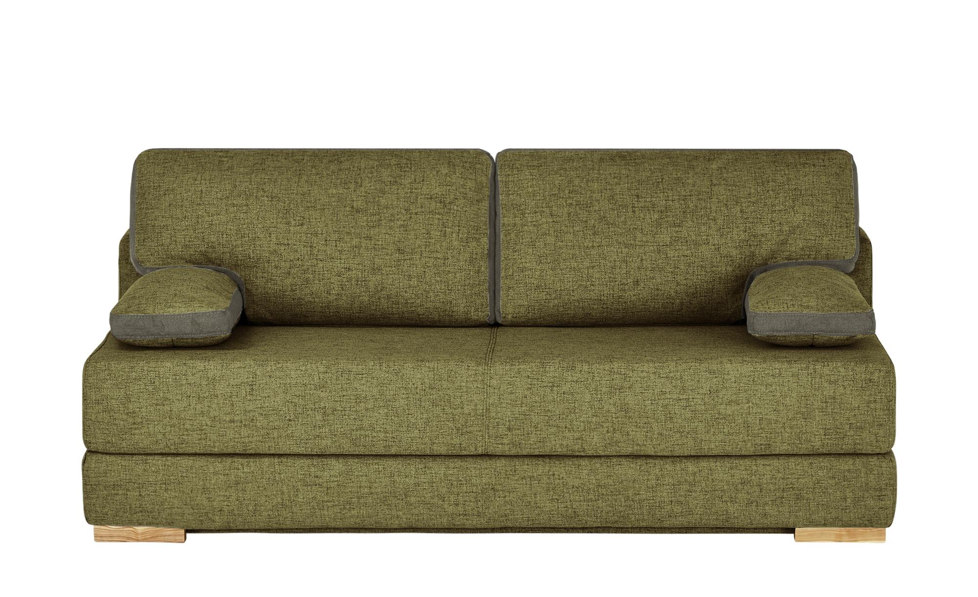 Schlafsofa   Toni ¦ grün ¦ Maße (cm): B: 202 H: 95 T: 98 Polstermöbel > Sofas > Einzelsofas - Höffner