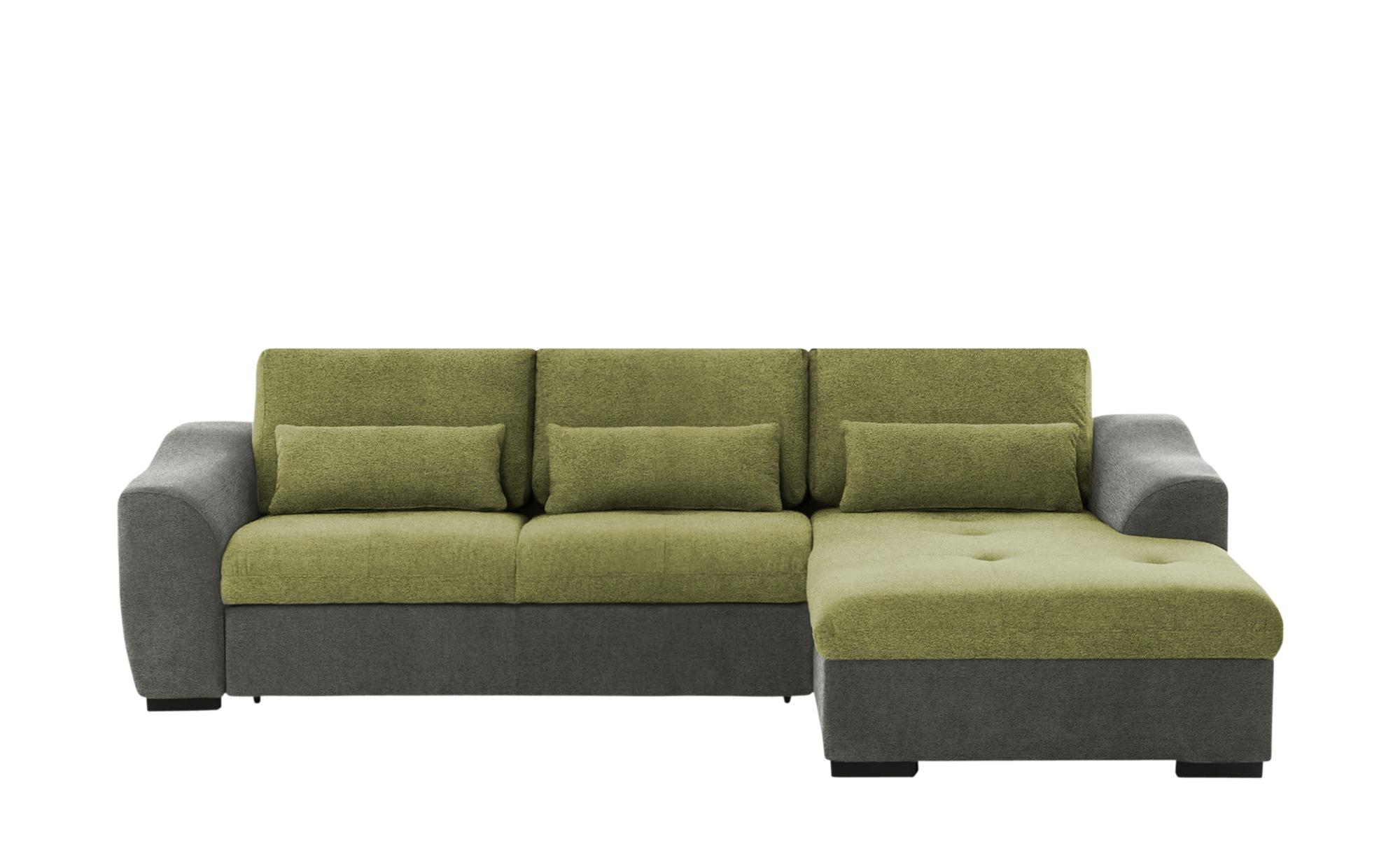 Ecksofa  Dhanja ¦ grün ¦ Maße (cm): H: 67 Polstermöbel > Sofas > Ecksofas - Höffner