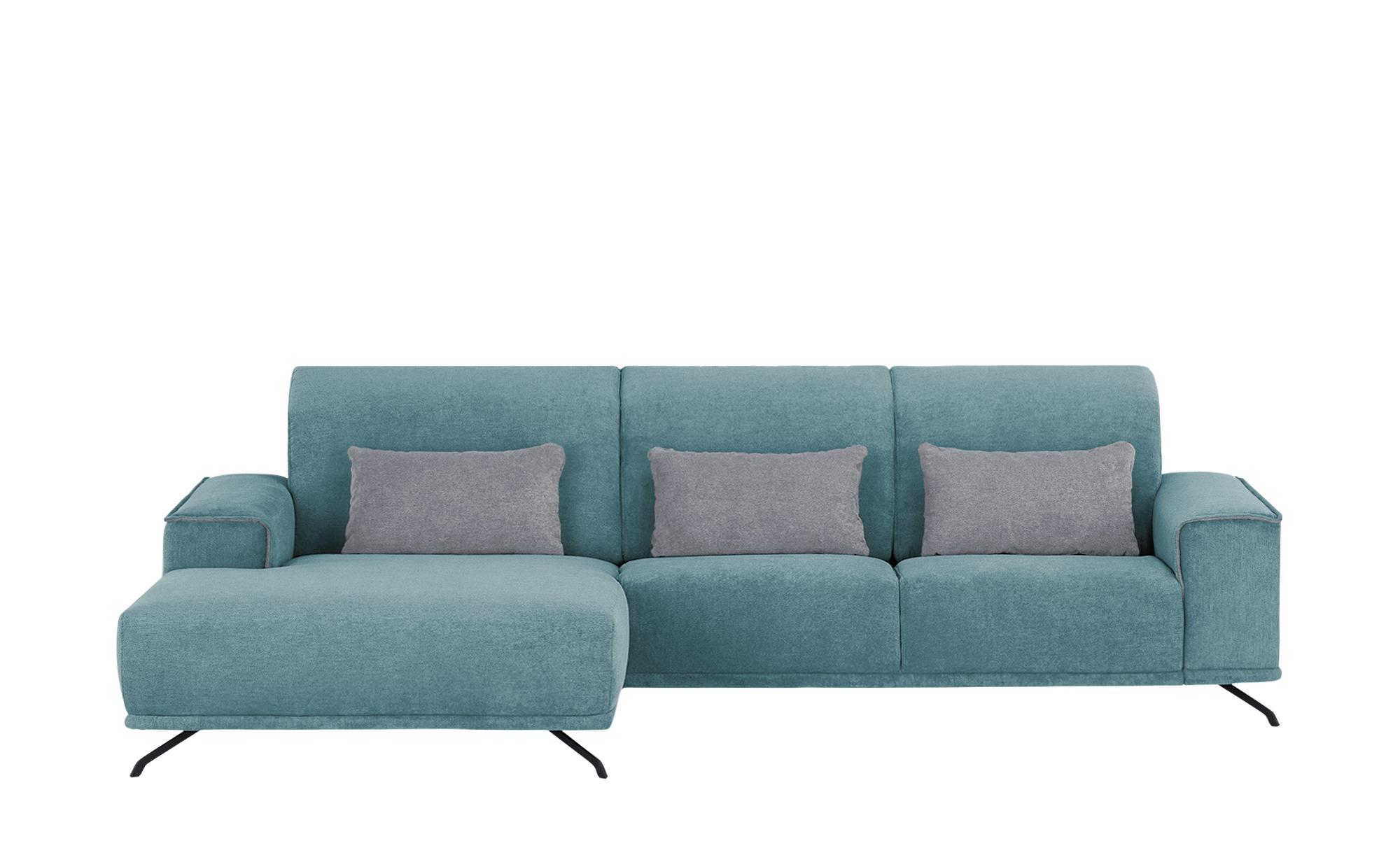 Wohnlandschaft  Robbin ¦ blau ¦ Maße (cm): H: 100 Polstermöbel > Sofas > Ecksofas - Höffner