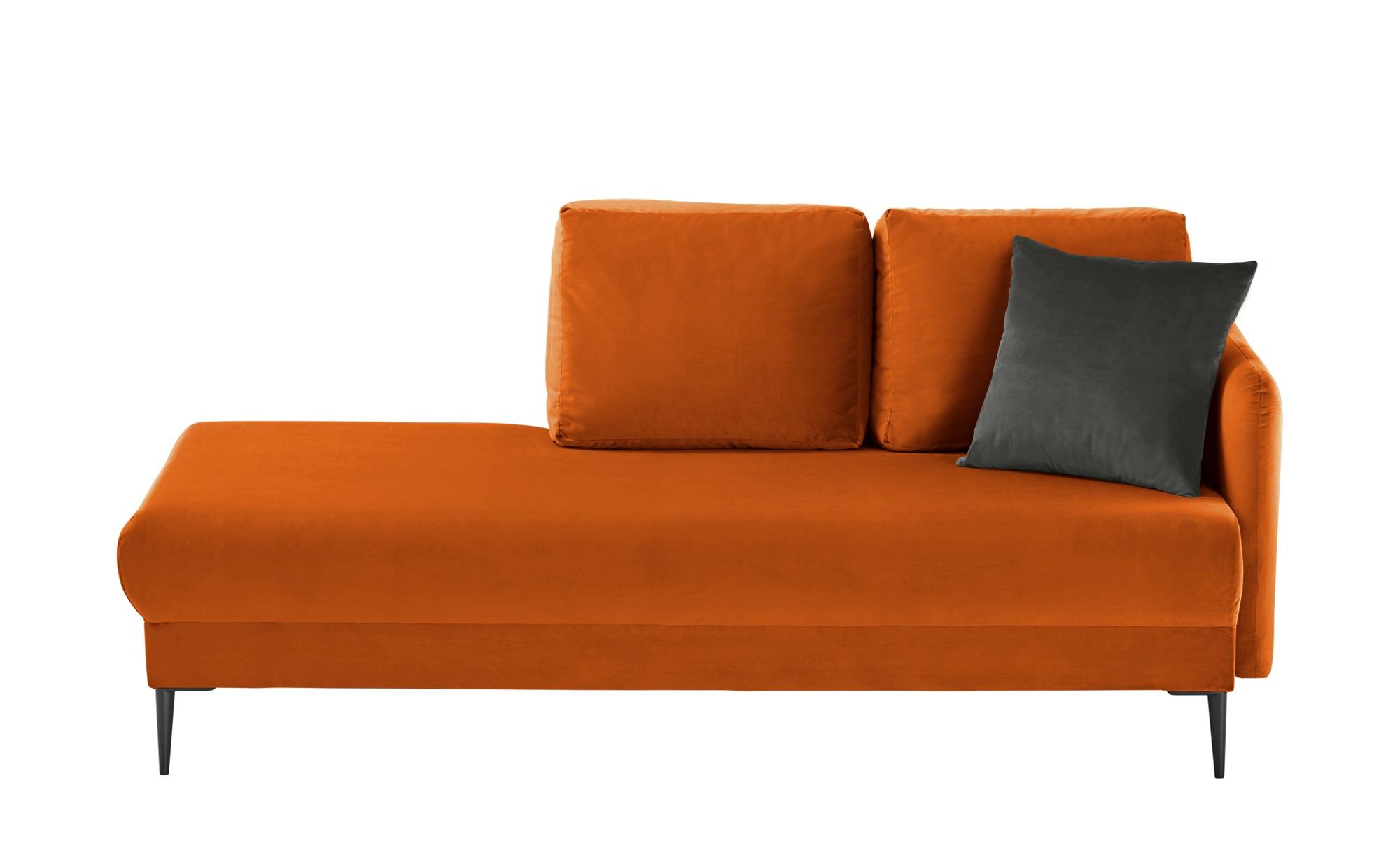 smart Ottomane  Olianna ¦ orange ¦ Maße (cm): B: 190 H: 90 T: 88 Polstermöbel > Sofas > Einzelsofas - Höffner