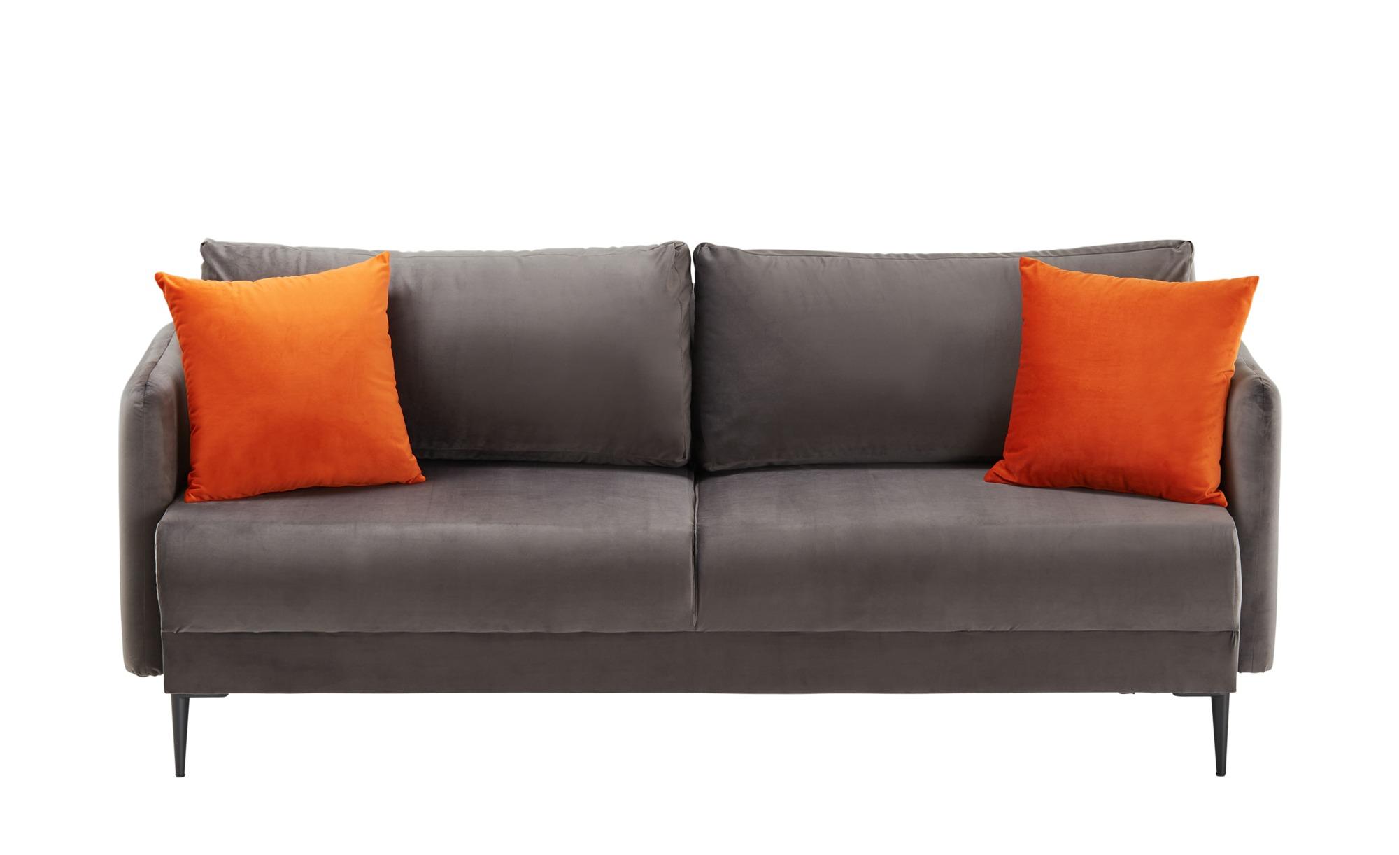 smart Sofa  Olianna ¦ grau ¦ Maße (cm): B: 200 H: 90 T: 88 Polstermöbel > Sofas > Einzelsofas - Höffner