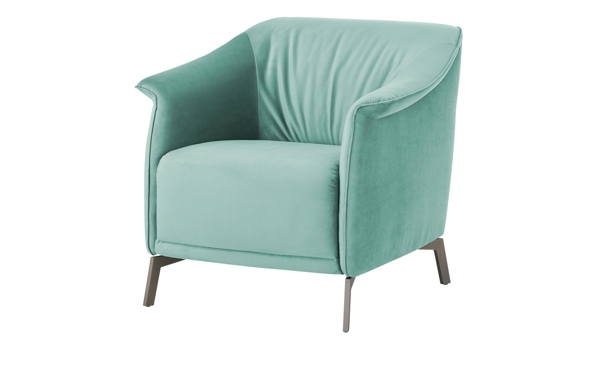 pop Sessel  Lamia ¦ blau ¦ Maße (cm): B: 80 H: 77 T: 83 Polstermöbel > Sessel > Polstersessel - Höffner