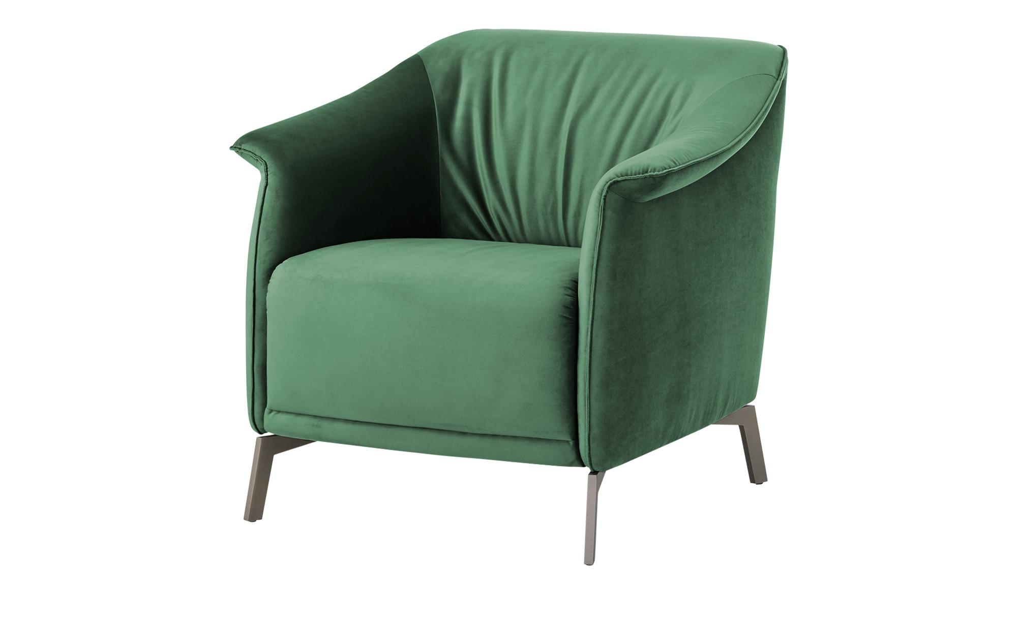 pop Sessel  Lamia ¦ grün ¦ Maße (cm): B: 80 H: 77 T: 83 Polstermöbel > Sessel > Polstersessel - Höffner