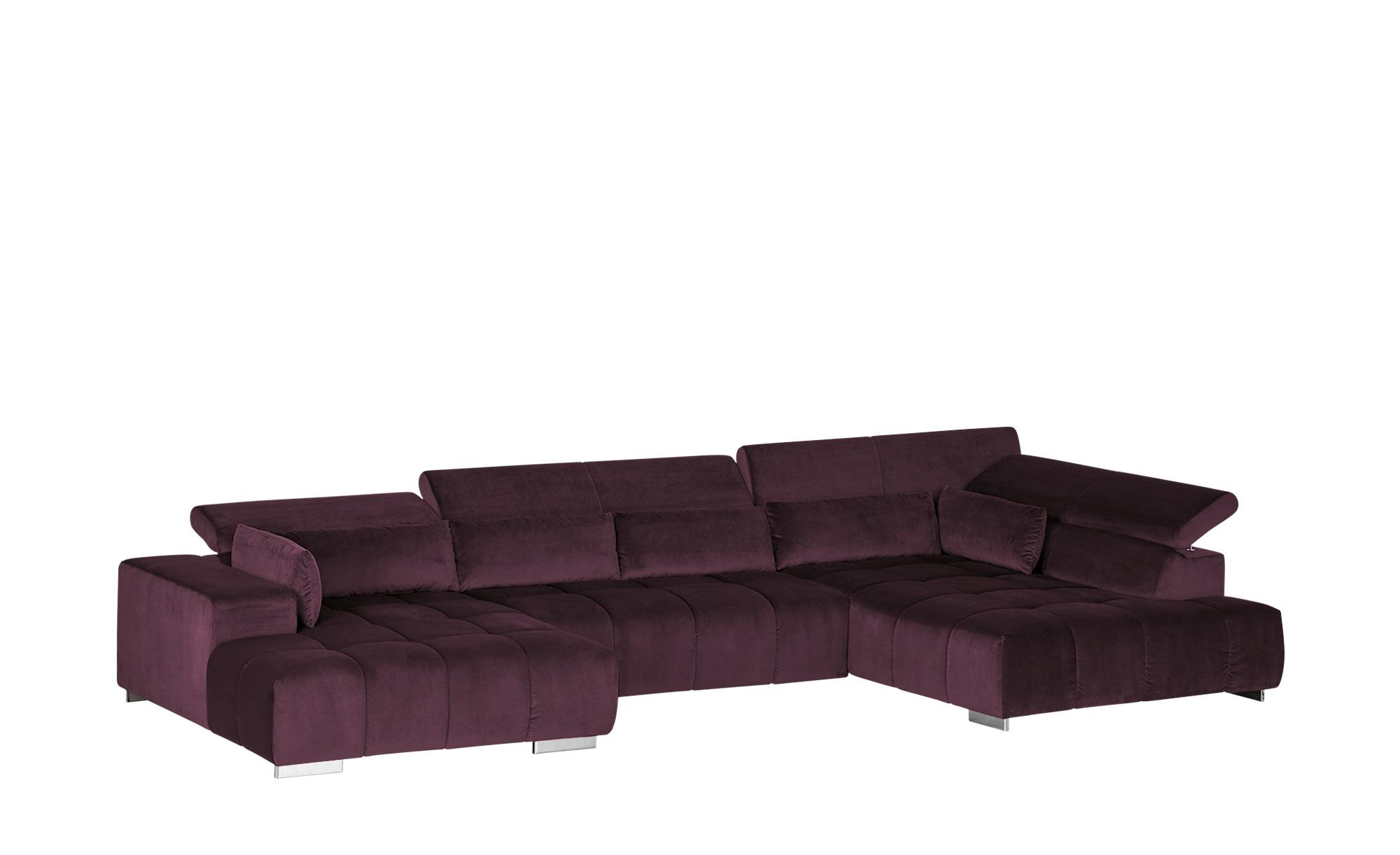 uno Wohnlandschaft  Origo ¦ lila/violett ¦ Maße (cm): H: 70 Polstermöbel > Sofas > Wohnlandschaften - Höffner
