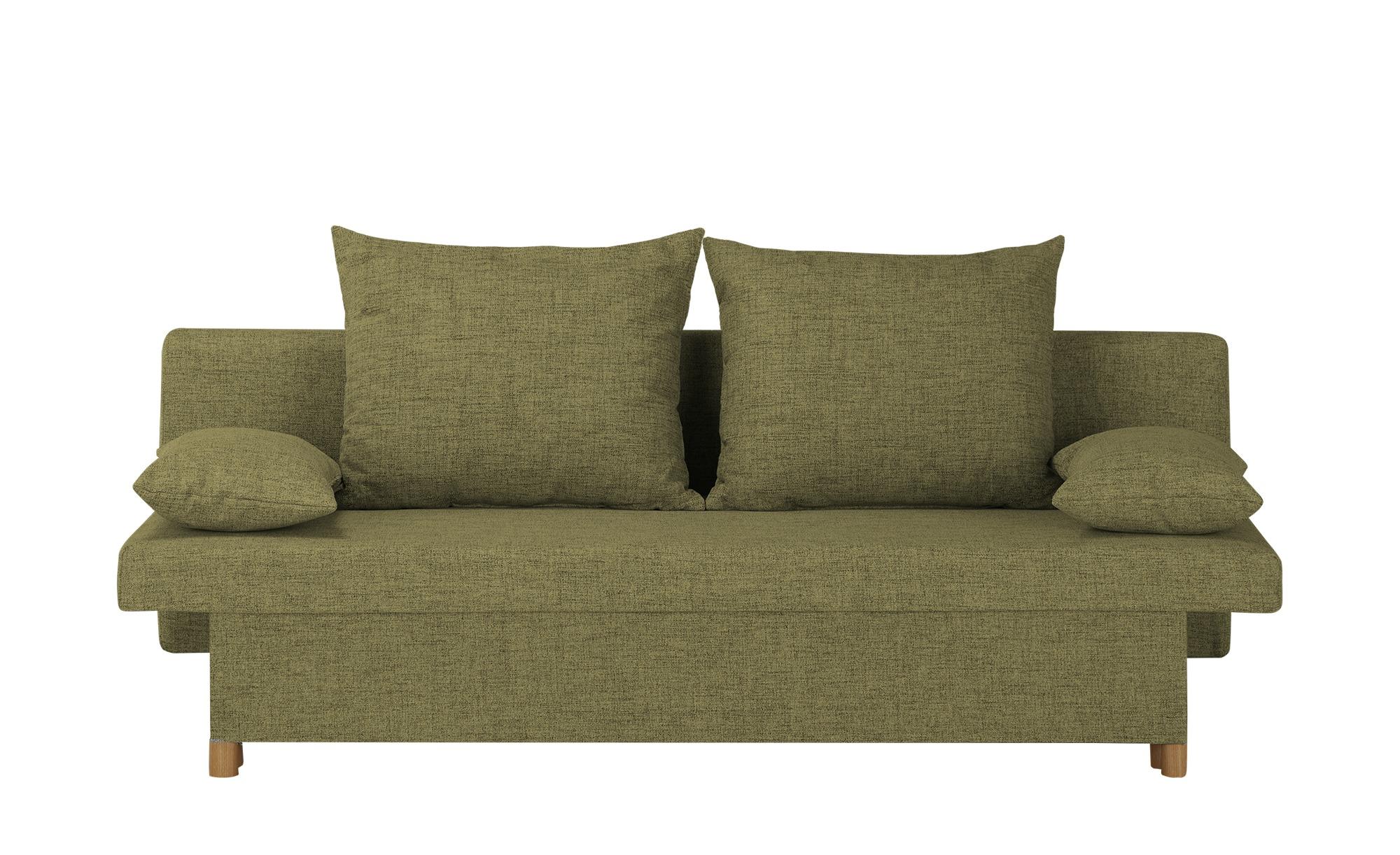 smart Schlafsofa  Wiebke ¦ grün ¦ Maße (cm): B: 194 H: 88 T: 87 Polstermöbel > Sofas > Einzelsofas - Höffner