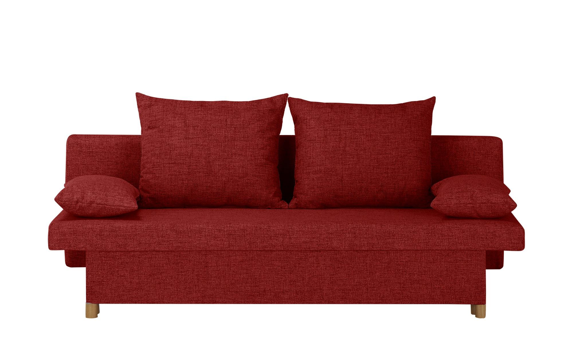 smart Schlafsofa  Wiebke ¦ rot ¦ Maße (cm): B: 194 H: 88 T: 87 Polstermöbel > Sofas > Einzelsofas - Höffner