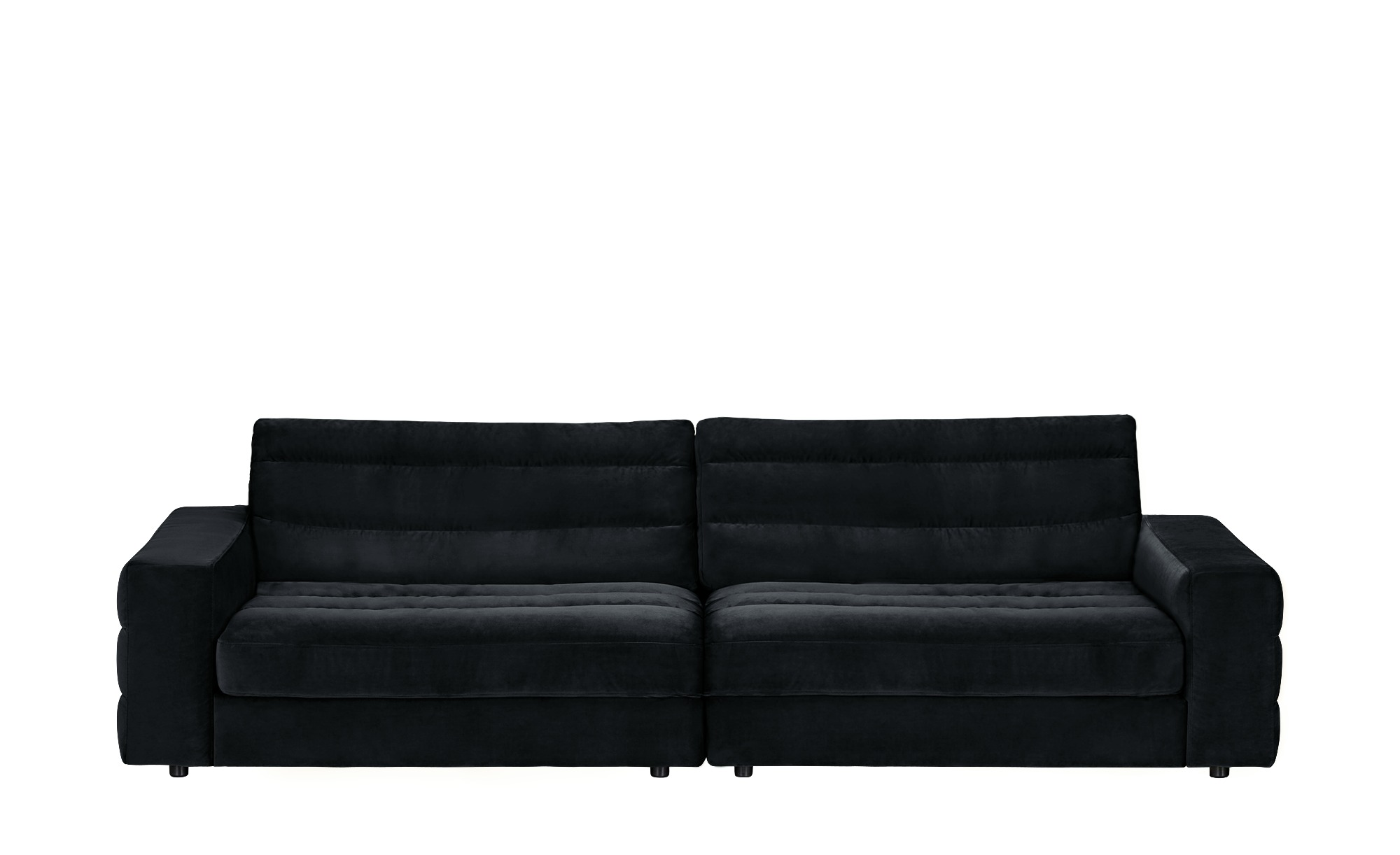 Big Sofa  Scarlatti ¦ schwarz ¦ Maße (cm): B: 296 H: 83 T: 125 Polstermöbel > Sofas > Big-Sofas - Höffner
