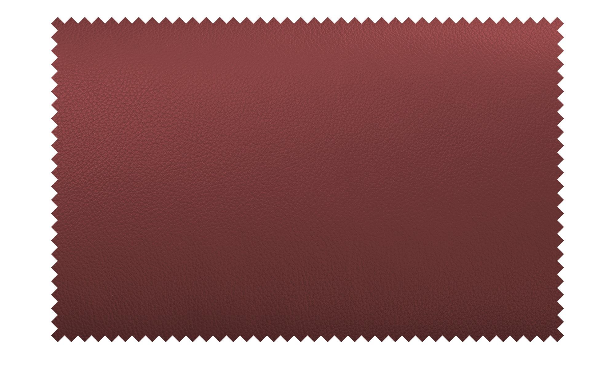 Ecksofa Leder Dallas ¦ rot ¦ Maße (cm): H: 74 Polstermöbel > Sofas >  Ecksofas - Höffner
