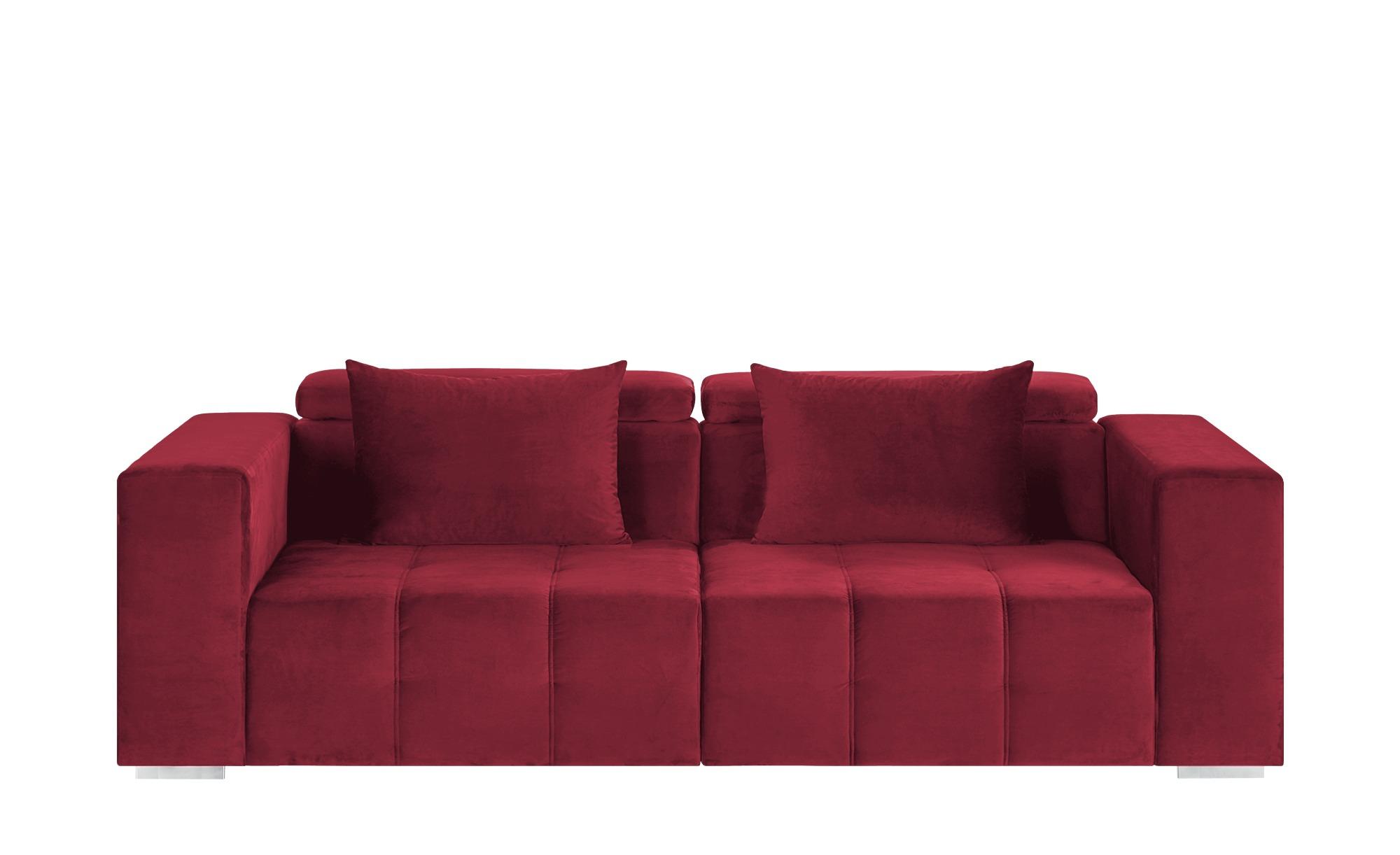 switch Big Sofa  Vila ¦ rot ¦ Maße (cm): B: 261 H: 79 T: 120 Polstermöbel > Sofas > Big-Sofas - Höffner