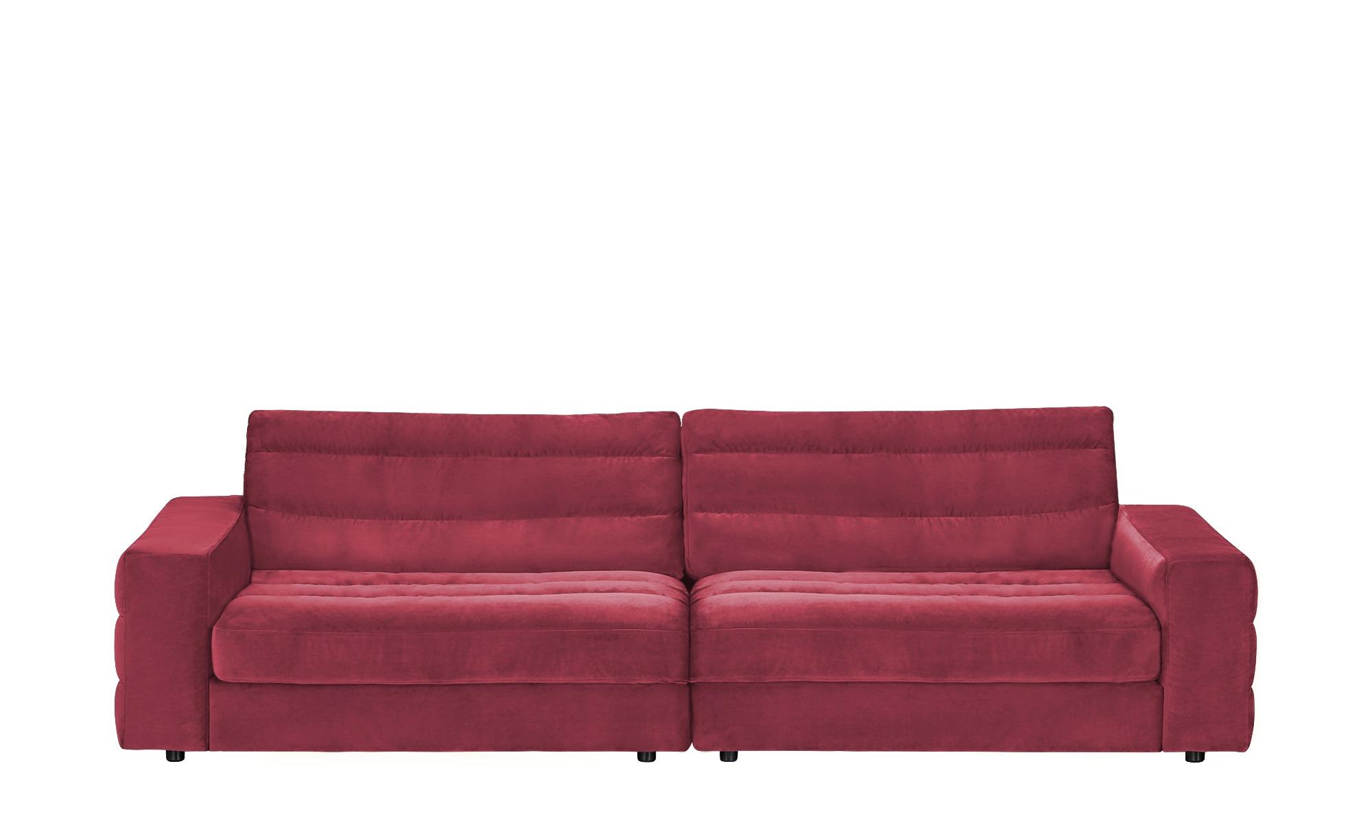 pop Big Sofa  Scarlatti ¦ rot ¦ Maße (cm): B: 296 H: 83 T: 125 Polstermöbel > Sofas > Big-Sofas - Höffner