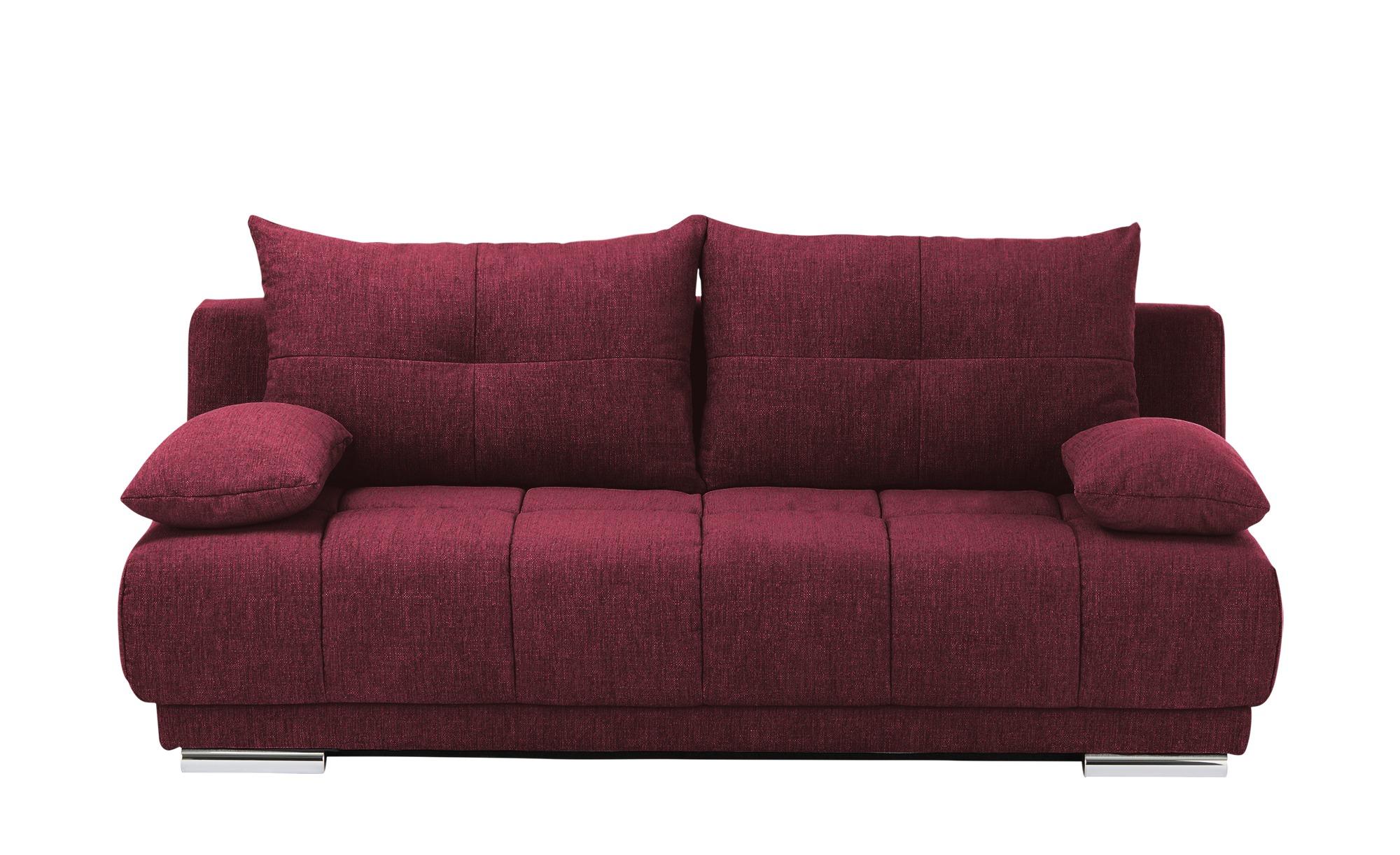 bobb Schlafsofa  Isalie ¦ rot ¦ Maße (cm): B: 206 H: 92 T: 105 Polstermöbel > Sofas > Einzelsofas - Höffner