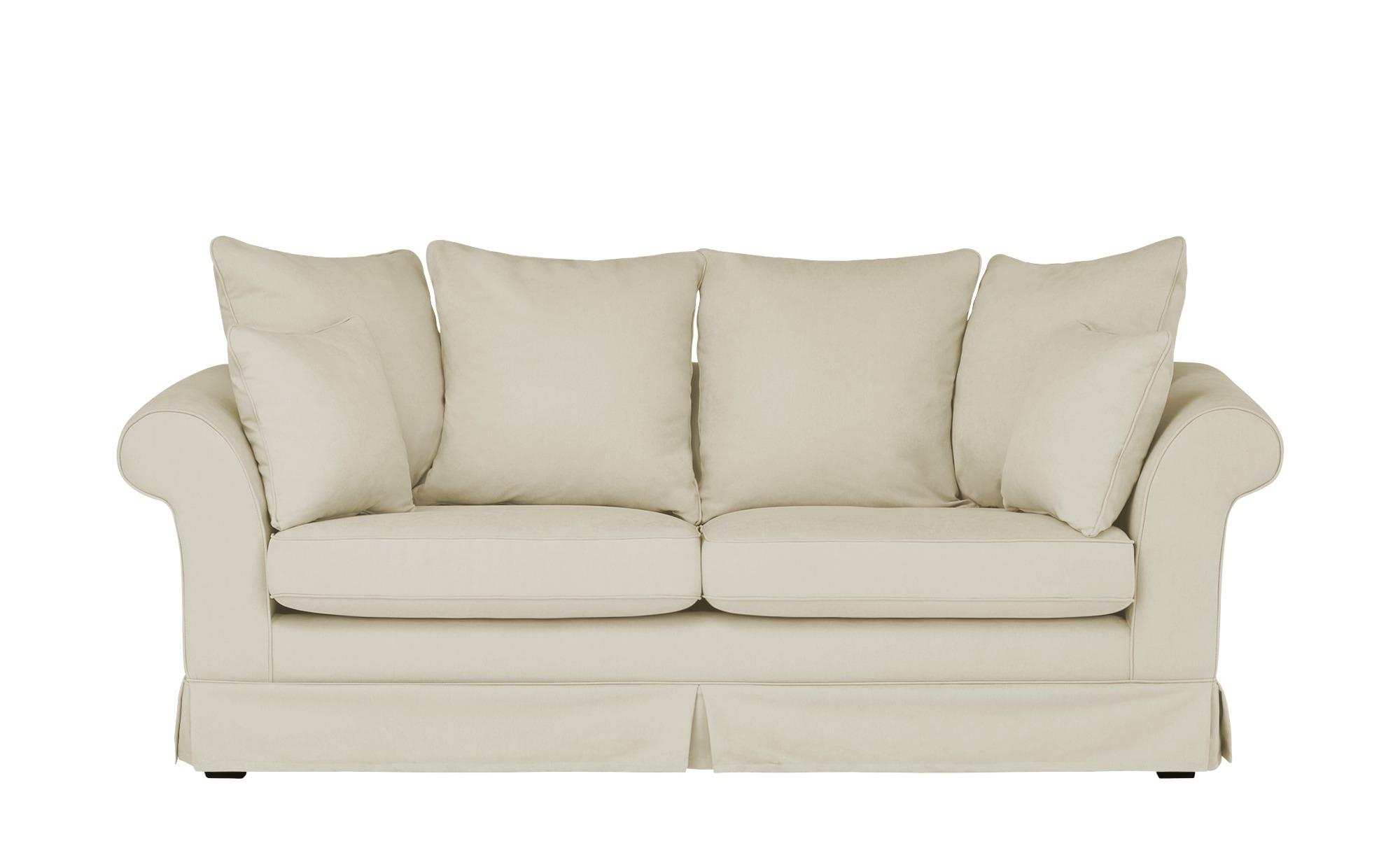 Hussensofa, 3-sitzig  Hampton ¦ creme ¦ Maße (cm): B: 214 H: 70 T: 92 Polstermöbel > Sofas > 3-Sitzer - Höffner