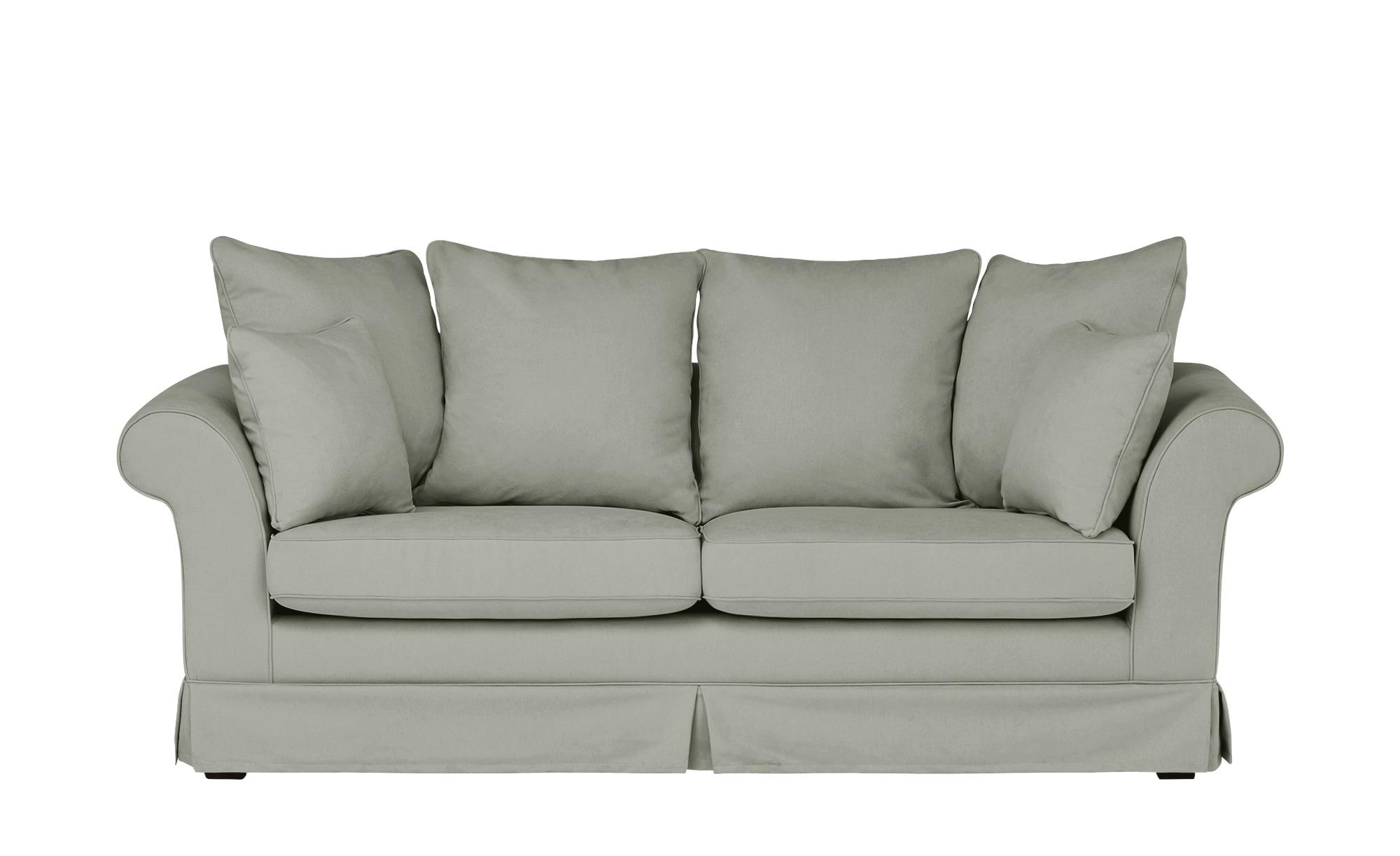 Hussensofa, 3-sitzig  Hampton ¦ grau ¦ Maße (cm): B: 214 H: 70 T: 92 Polstermöbel > Sofas > 3-Sitzer - Höffner