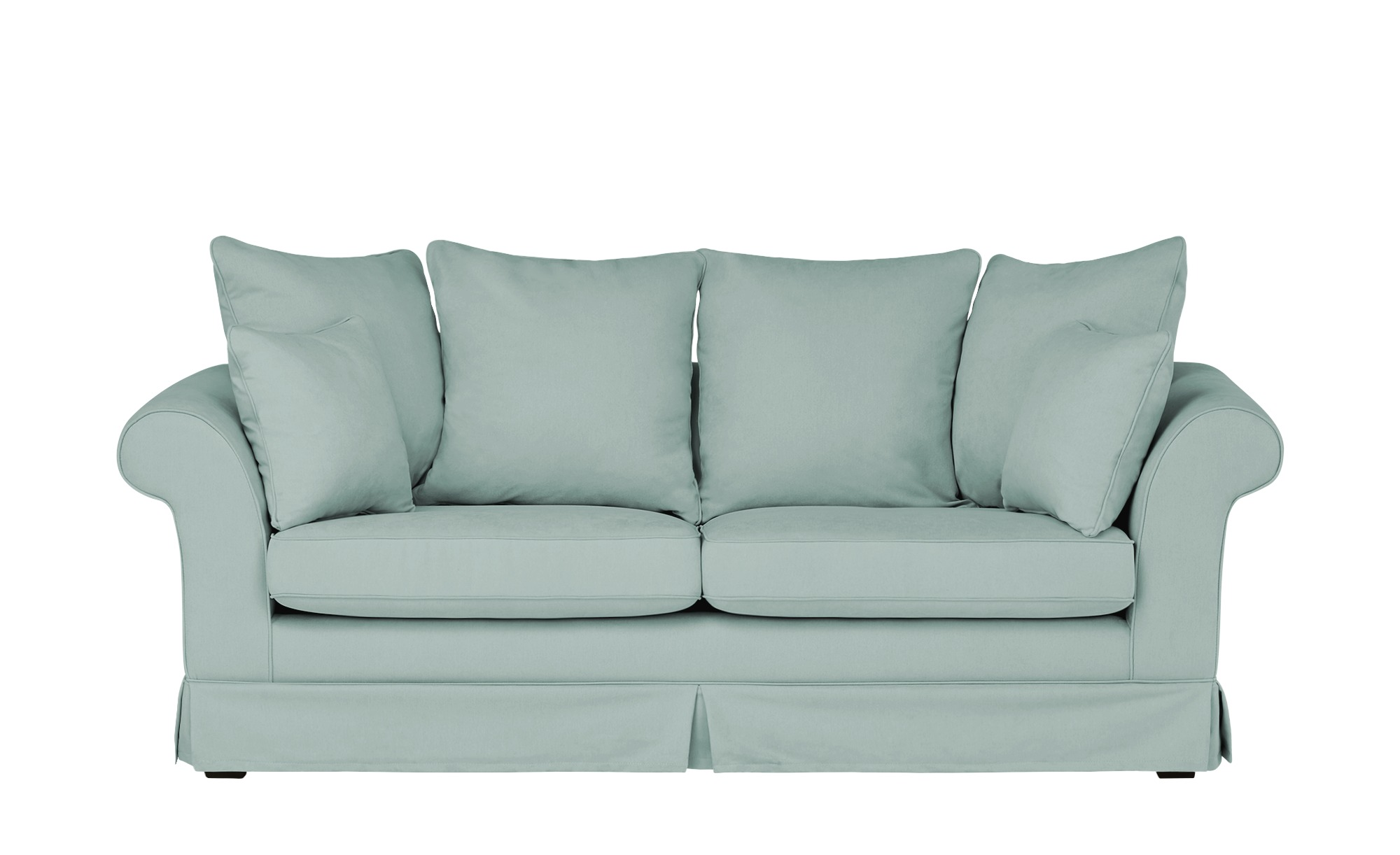 Hussensofa, 3-sitzig  Hampton ¦ blau ¦ Maße (cm): B: 214 H: 70 T: 92 Polstermöbel > Sofas > 3-Sitzer - Höffner