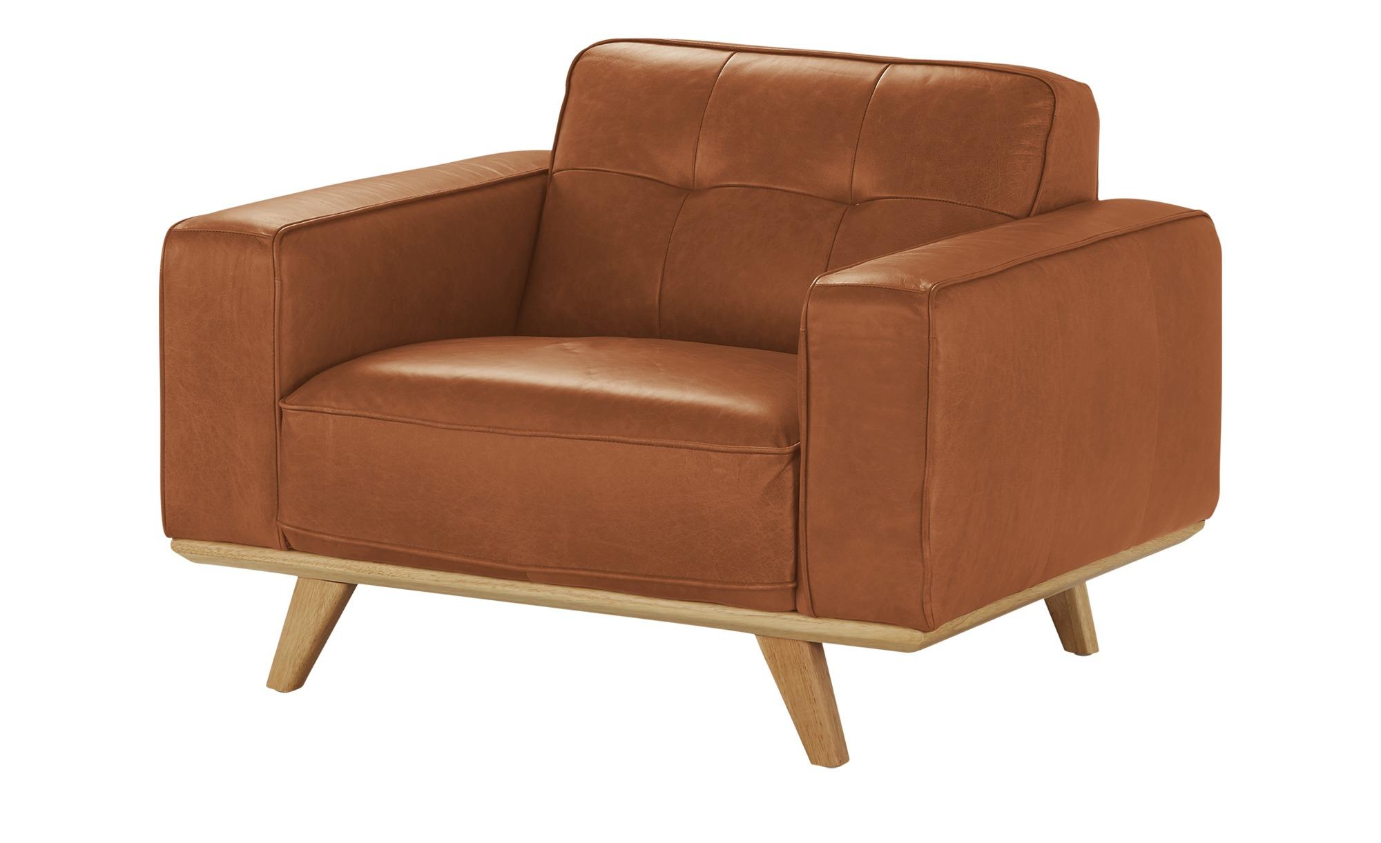uno Leder Sessel  Caralina ¦ orange ¦ Maße (cm): B: 112 H: 78 T: 95 Polstermöbel > Sessel > Ledersessel - Höffner