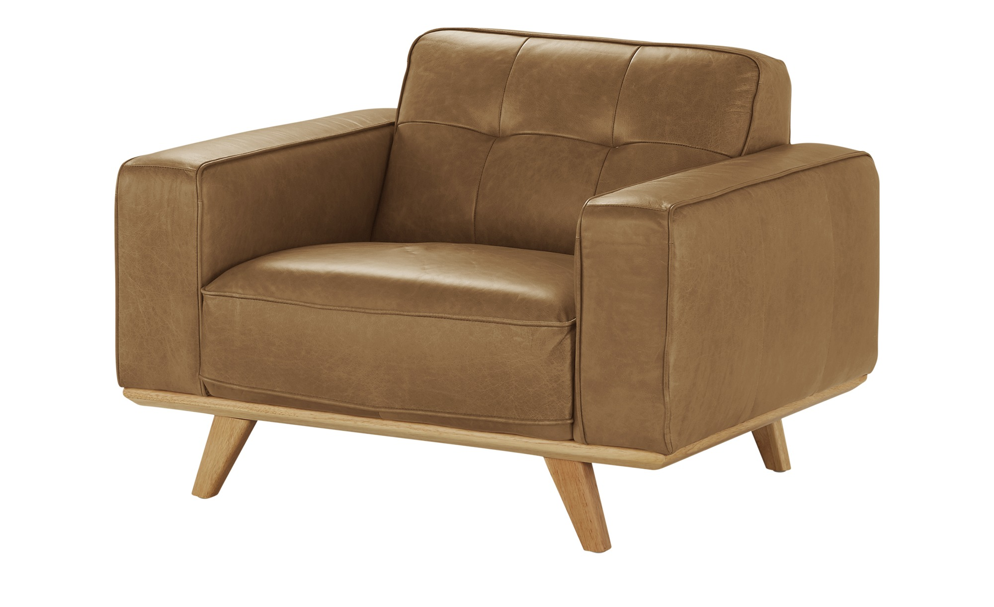 uno Leder Sessel  Caralina ¦ braun ¦ Maße (cm): B: 112 H: 78 T: 95 Polstermöbel > Sessel > Ledersessel - Höffner