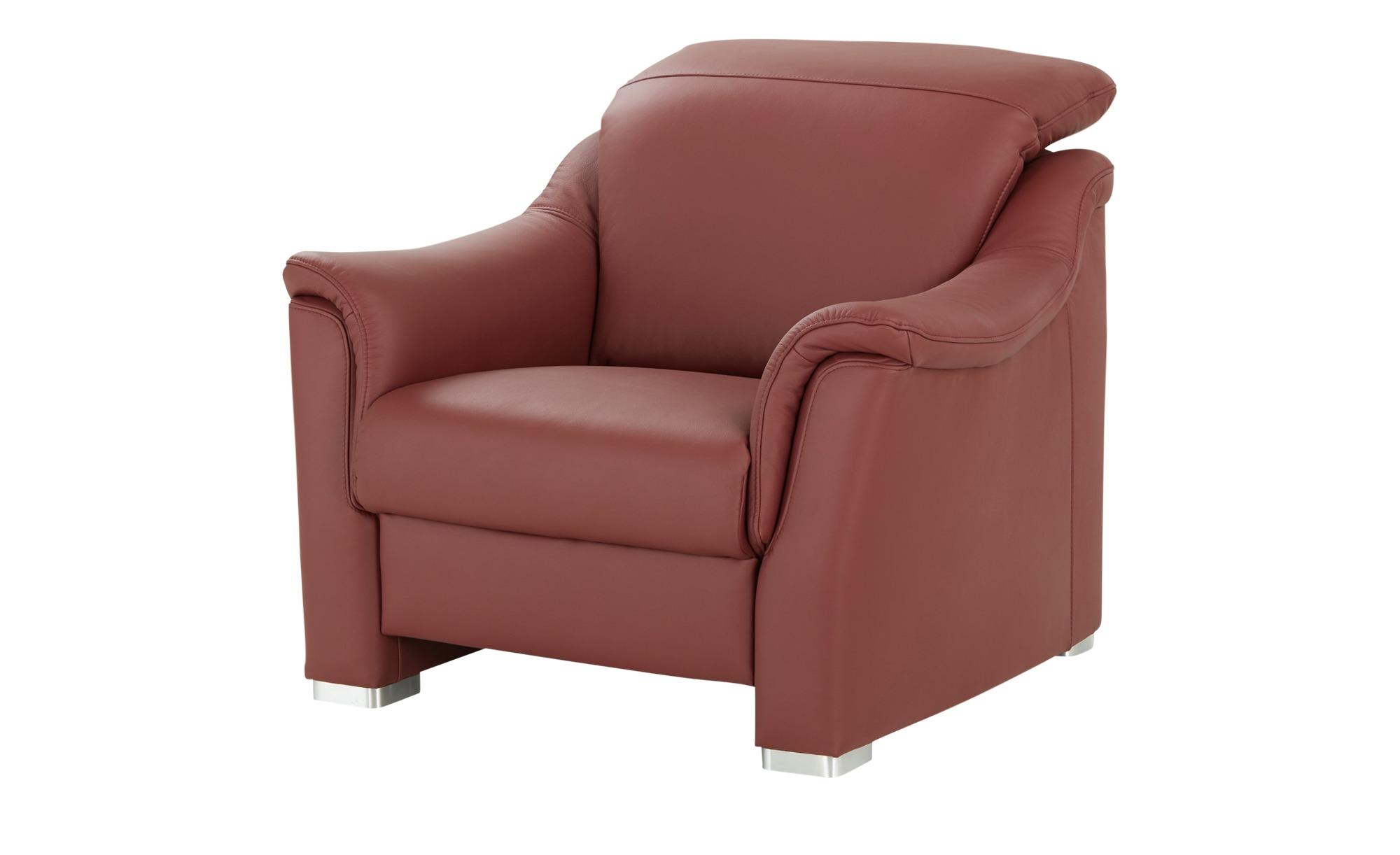 meinSofa Ledersessel  Desana ¦ rot ¦ Maße (cm): B: 102 H: 83 T: 102 Polstermöbel > Sessel > Ledersessel - Höffner