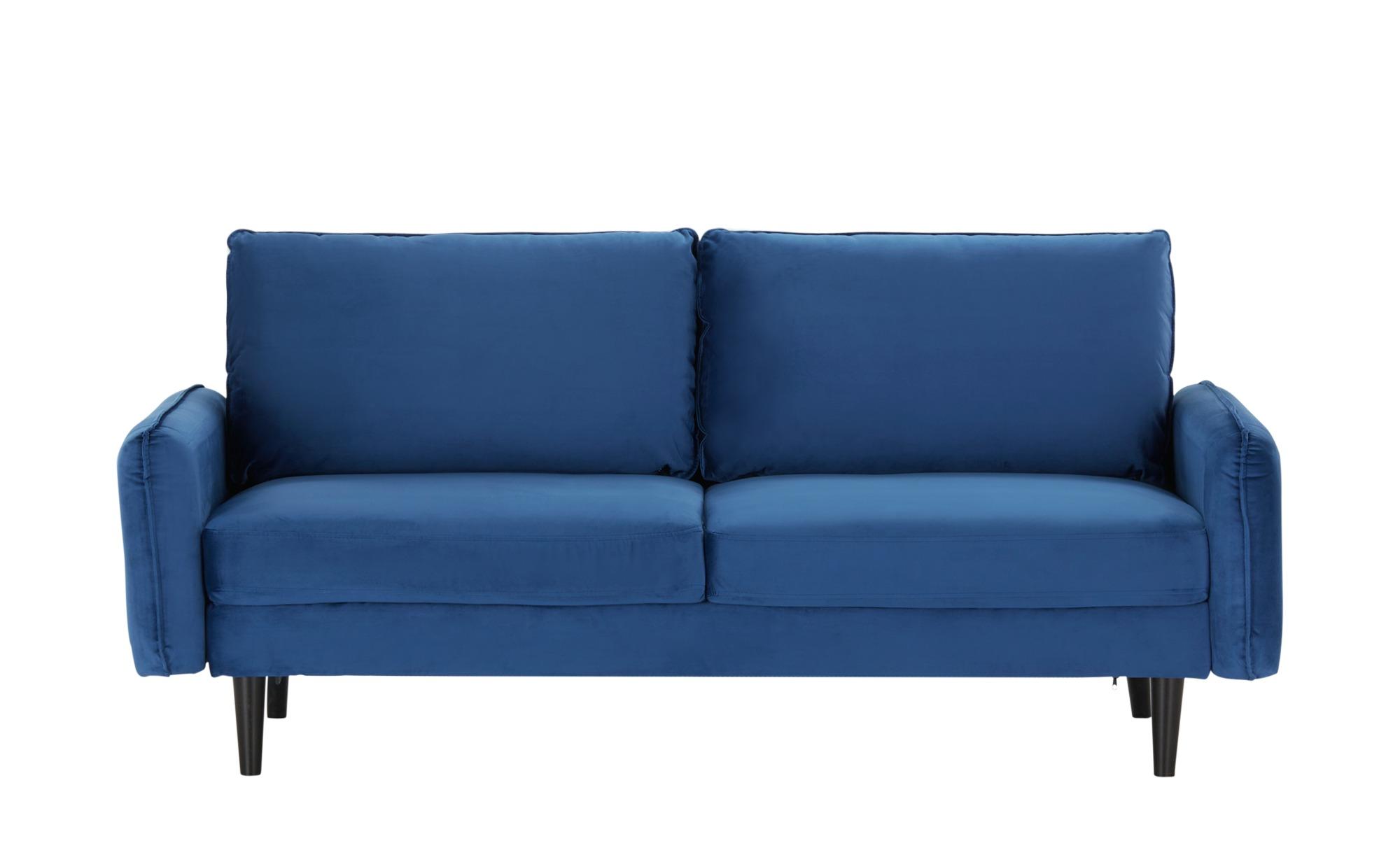 Sofa, 3-sitzig  Queenie ¦ blau ¦ Maße (cm): B: 186 H: 74,2 T: 81,5 Polstermöbel > Sofas > 3-Sitzer - Höffner