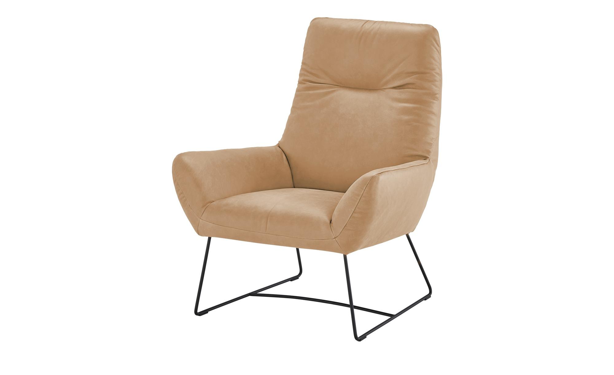Max Schelling Leder Sessel  Master ¦ beige ¦ Maße (cm): B: 82 H: 102 T: 81 Polstermöbel > Sessel > Ledersessel - Höffner
