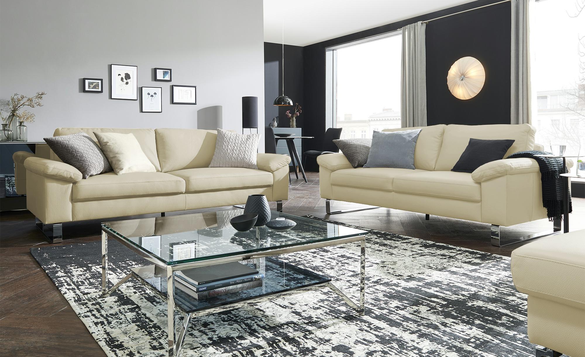 Max Schelling Ledersofa  Maximum ¦ beige ¦ Maße (cm): B: 184 H: 86 T: 97 Polstermöbel > Sofas > 2-Sitzer - Höffner