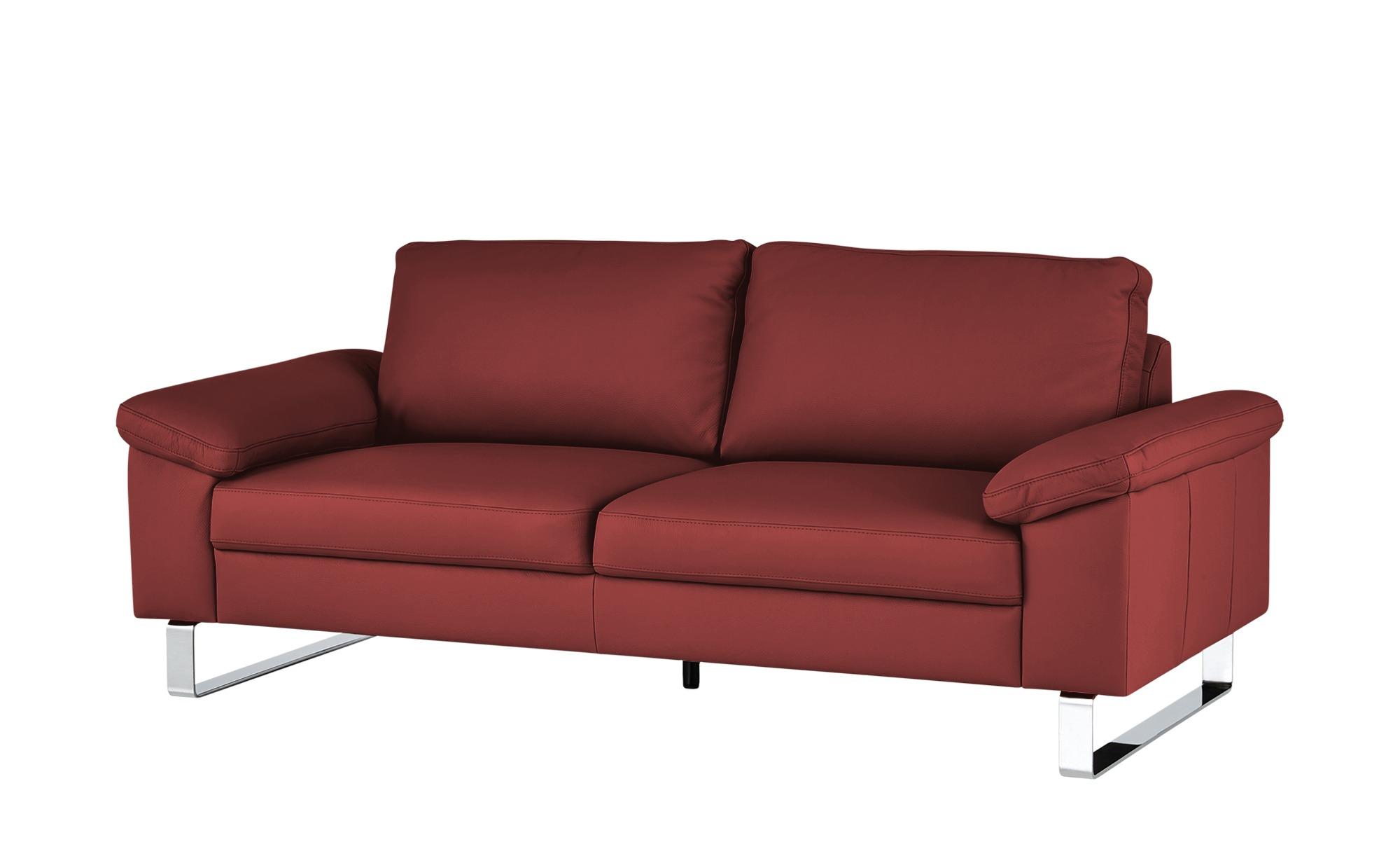 Max Schelling Ledersofa  Maximum ¦ rot ¦ Maße (cm): B: 140 H: 86 T: 97 Polstermöbel > Sofas > 2-Sitzer - Höffner