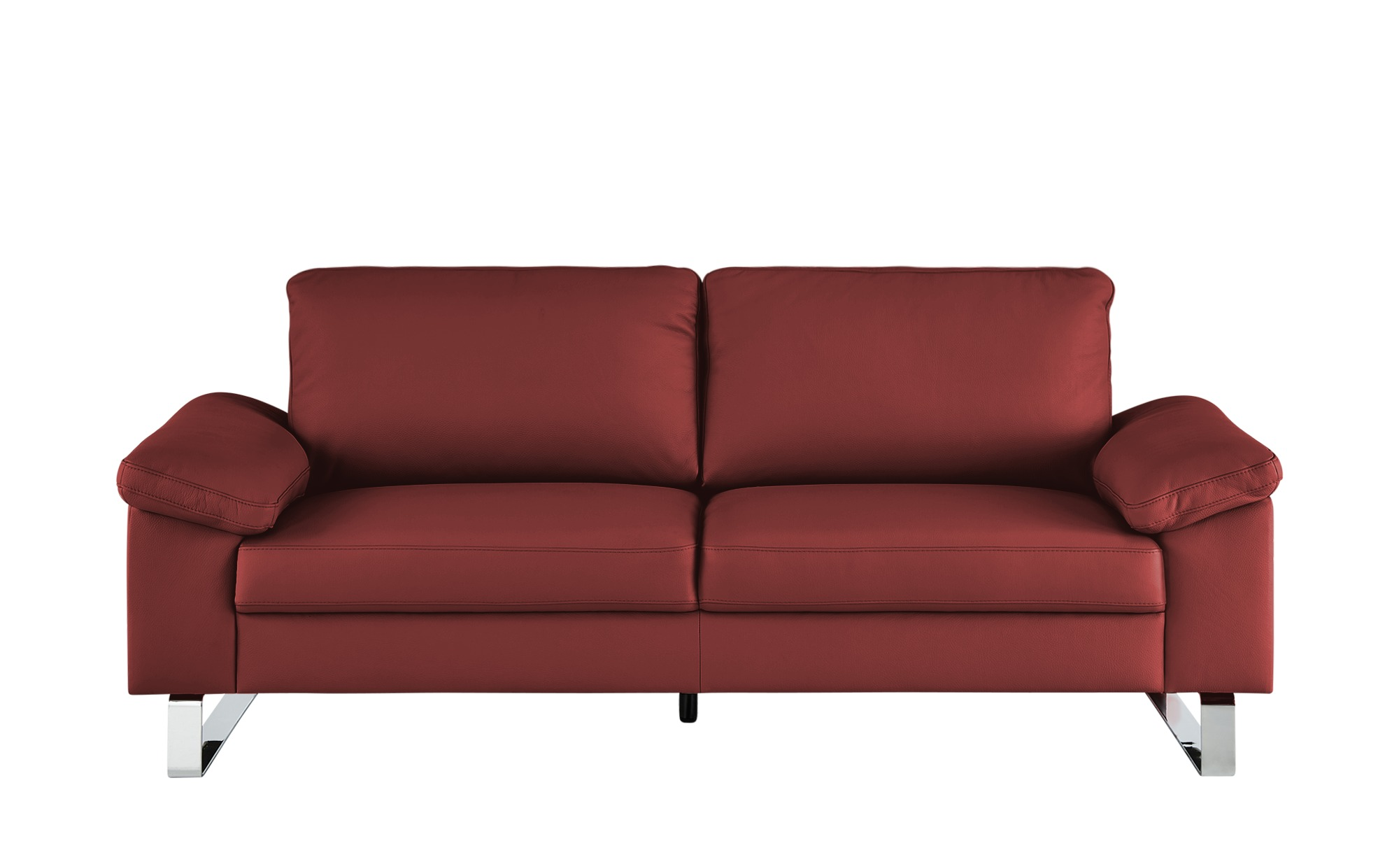 Max Schelling Ledersofa  Maximum ¦ rot ¦ Maße (cm): B: 184 H: 86 T: 97 Polstermöbel > Sofas > 2-Sitzer - Höffner
