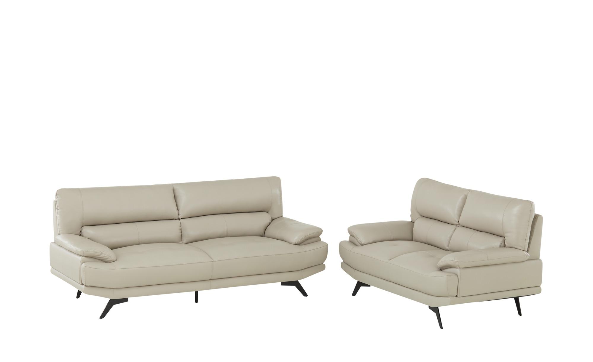 uno Sitzgruppe Leder  Lisa ¦ beige ¦ Maße (cm): H: 92 T: 92,5 Polstermöbel > Sofas > Sitzgruppen - Höffner