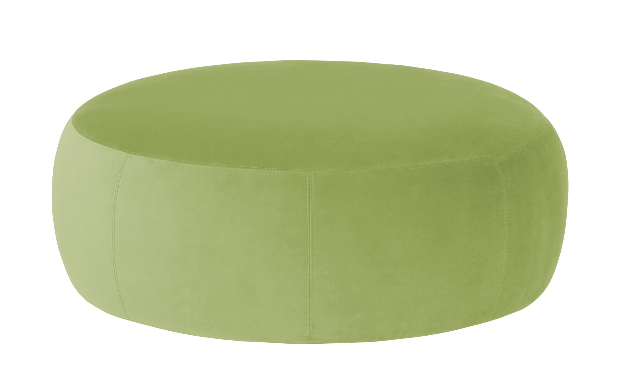 #pop Samt Hocker  Amadi ¦ grün ¦ Maße (cm): H: 40 Ø: 105 Polstermöbel > Hocker – Höffner#