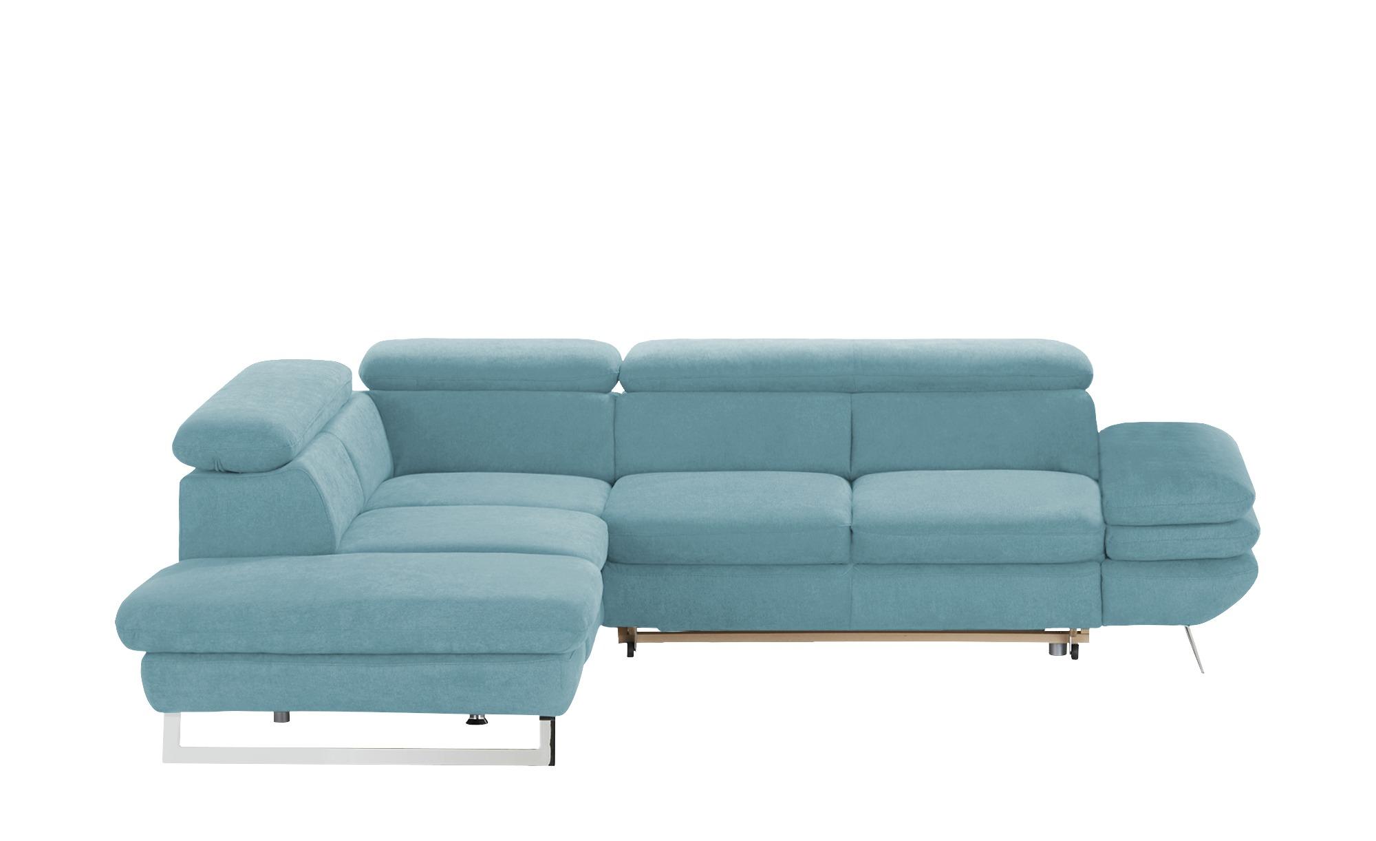 uno Ecksofa  Preston ¦ blau ¦ Maße (cm): H: 74 Polstermöbel > Sofas > Ecksofas - Höffner