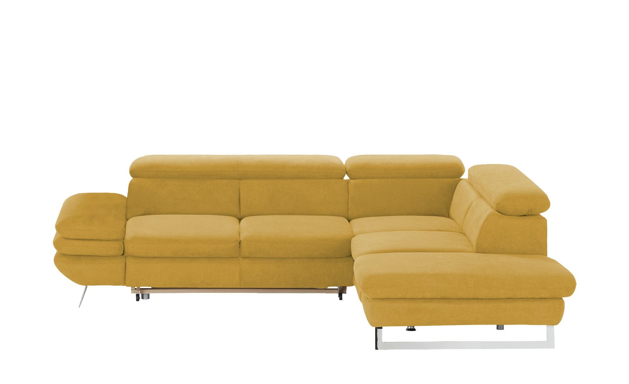 uno Ecksofa  Preston ¦ gelb ¦ Maße (cm): H: 74 Polstermöbel > Sofas > Ecksofas - Höffner