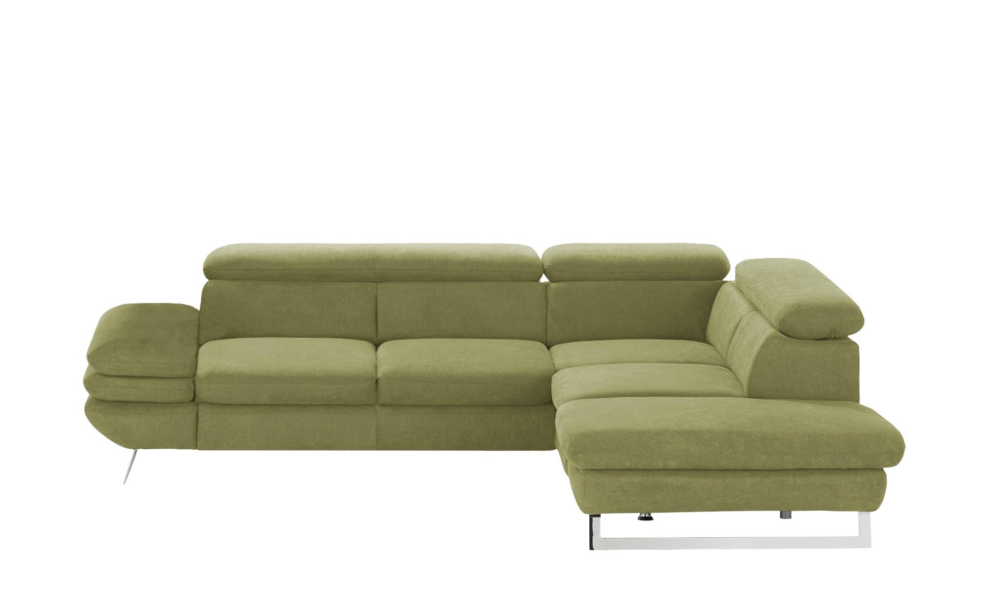 uno Ecksofa  Preston ¦ grün ¦ Maße (cm): H: 74 Polstermöbel > Sofas > Ecksofas - Höffner