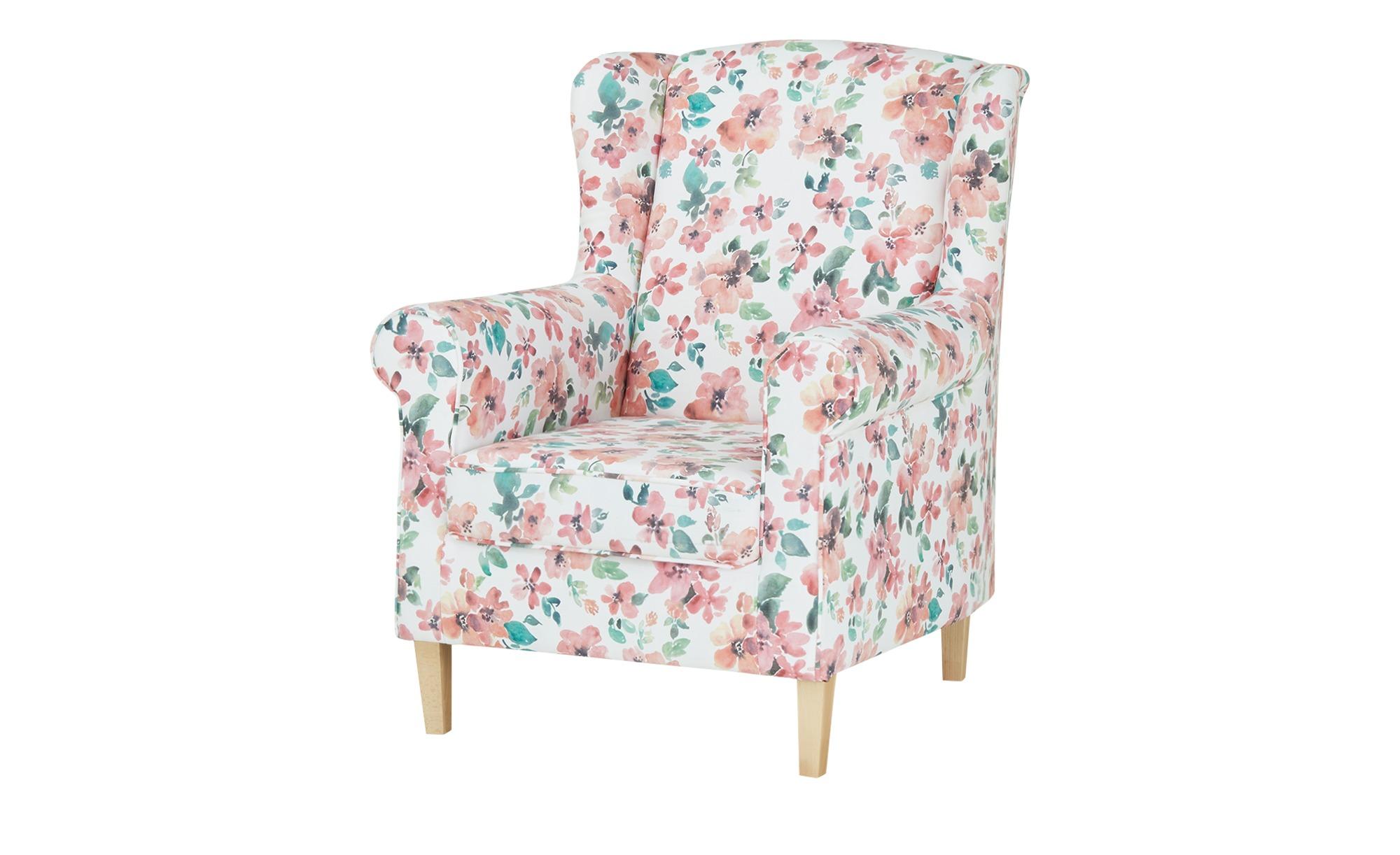 Ohrensessel  Britta ¦ rosa/pink ¦ Maße (cm): B: 81 H: 100 T: 90 Polstermöbel > Sessel > Ohrensessel - Höffner
