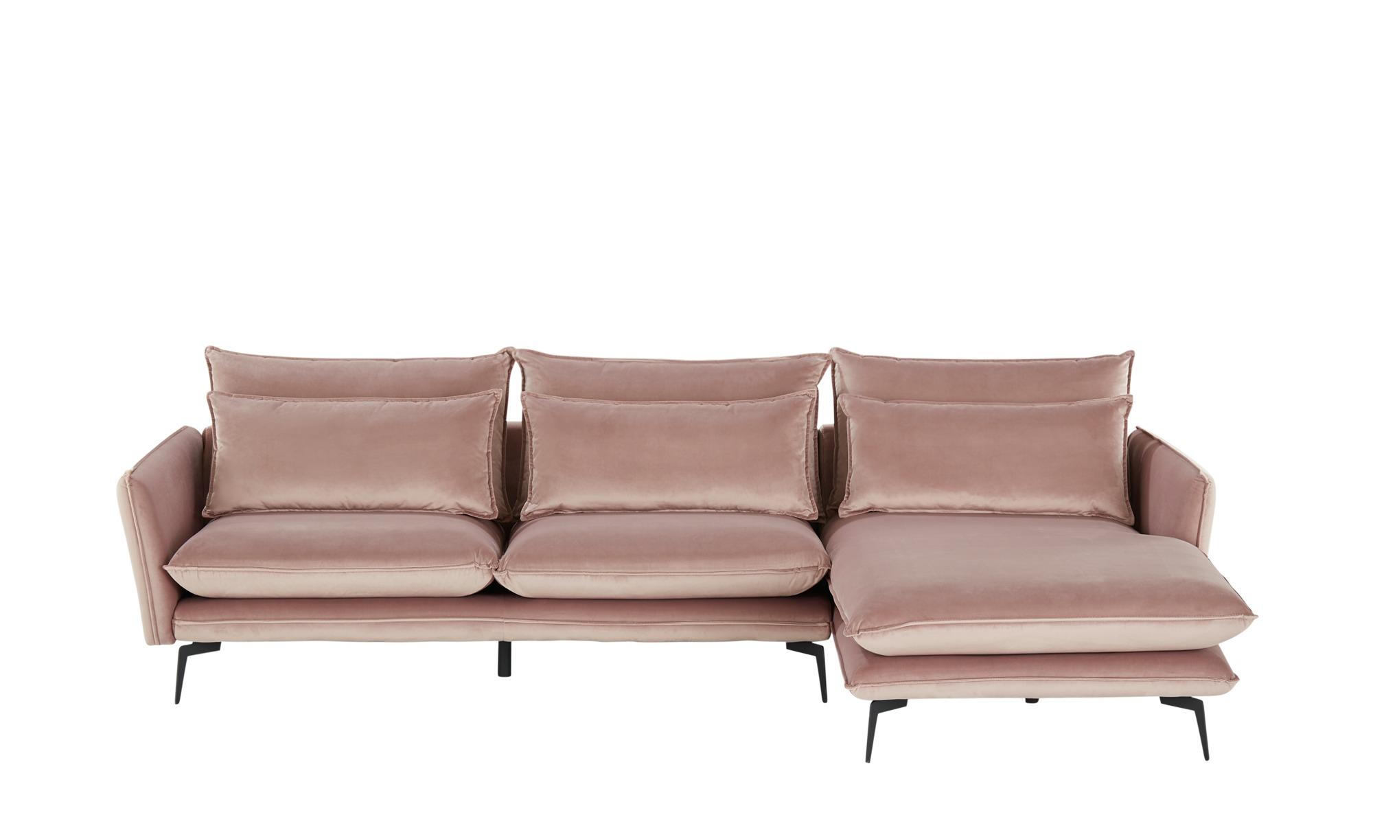 uno Elementgruppe aus Samt  Jon ¦ rosa/pink ¦ Maße (cm): B: 291 H: 84 T: 175 Polstermöbel > Sofas > Ecksofas - Höffner