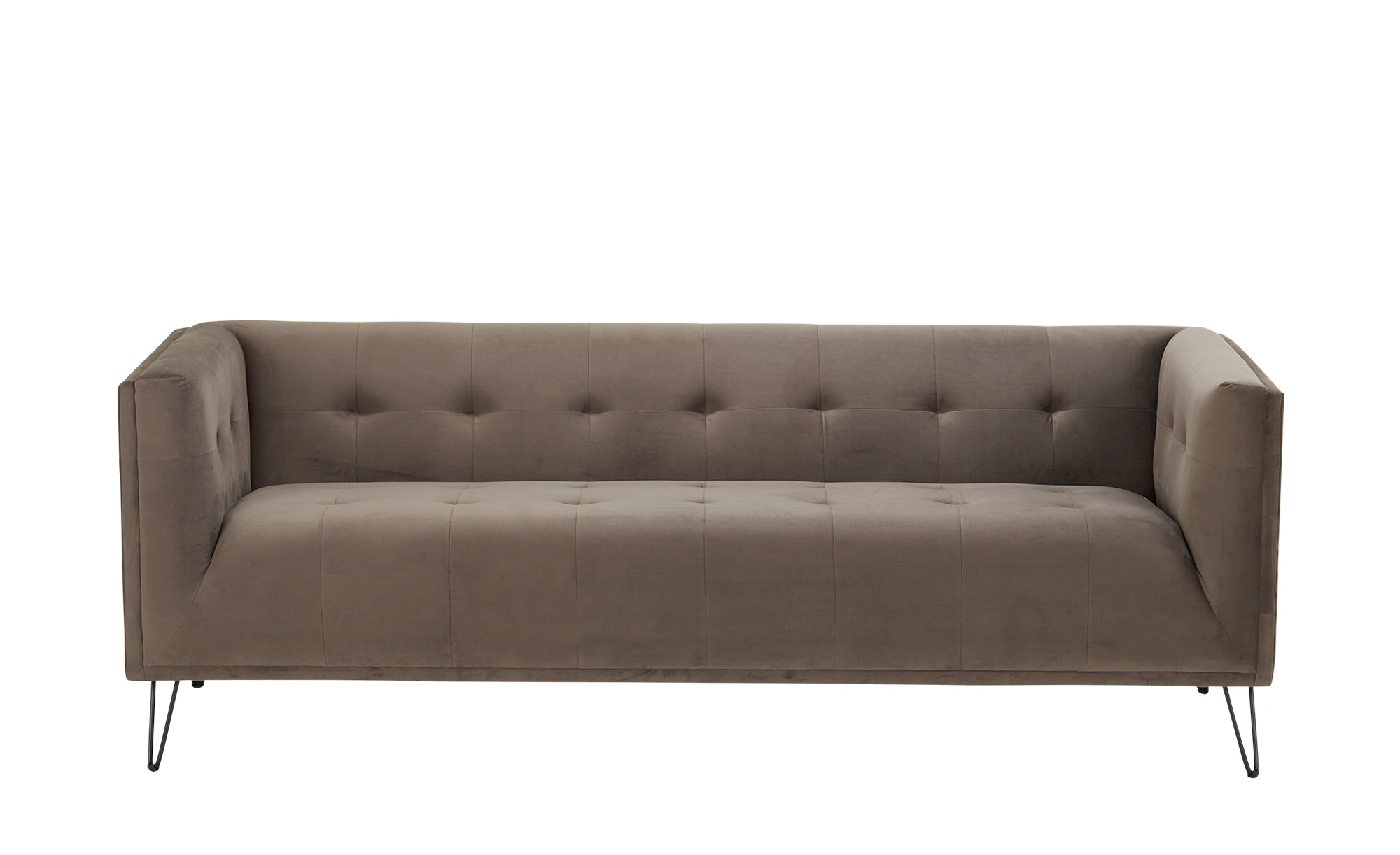 Sofa, 3-sitzig  Tara ¦ grau ¦ Maße (cm): B: 207 H: 74 T: 84 Polstermöbel > Sofas > 3-Sitzer - Höffner